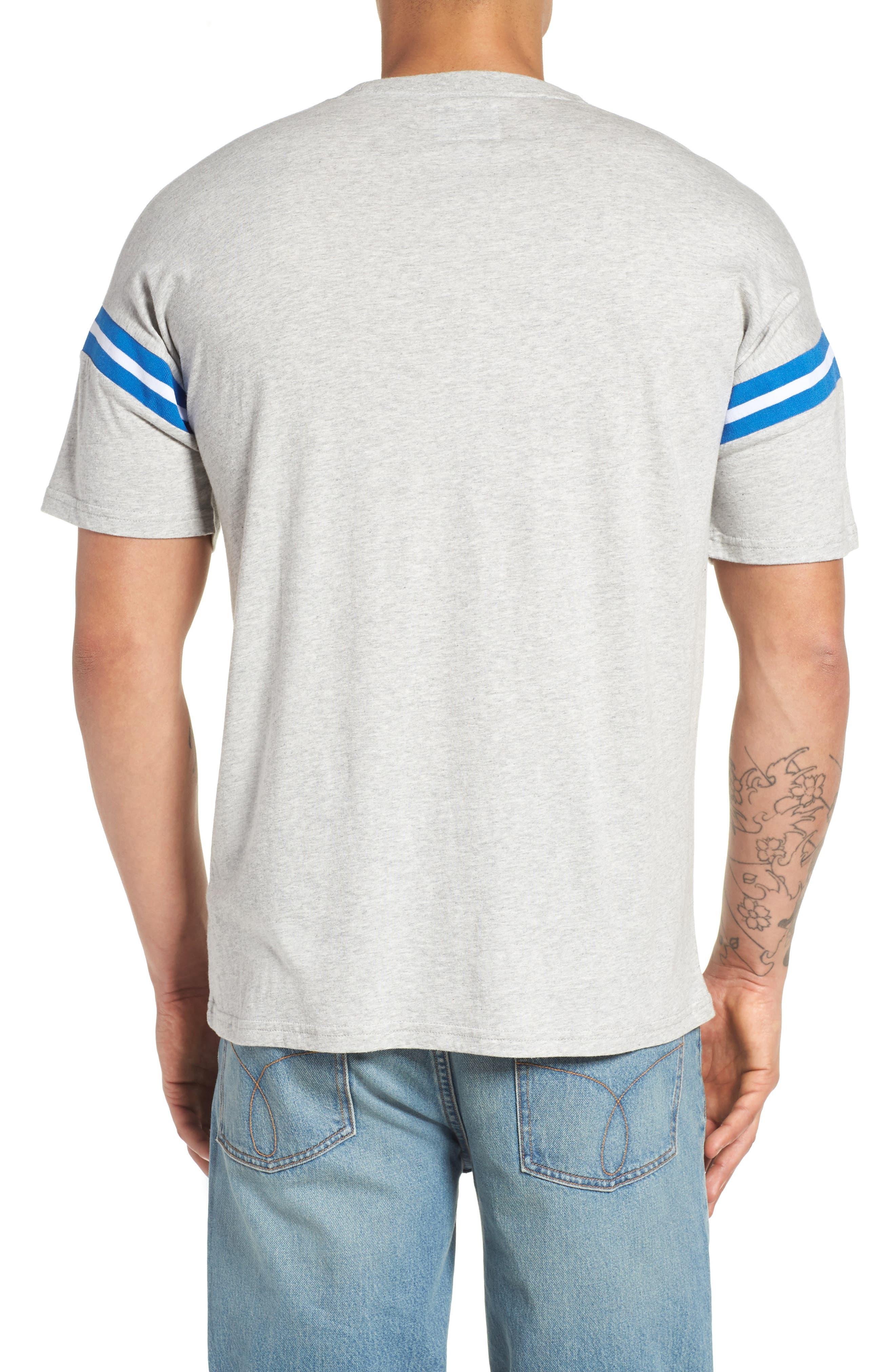 Tipped T-Shirt,                             Alternate thumbnail 2, color,                             Smoke Heather