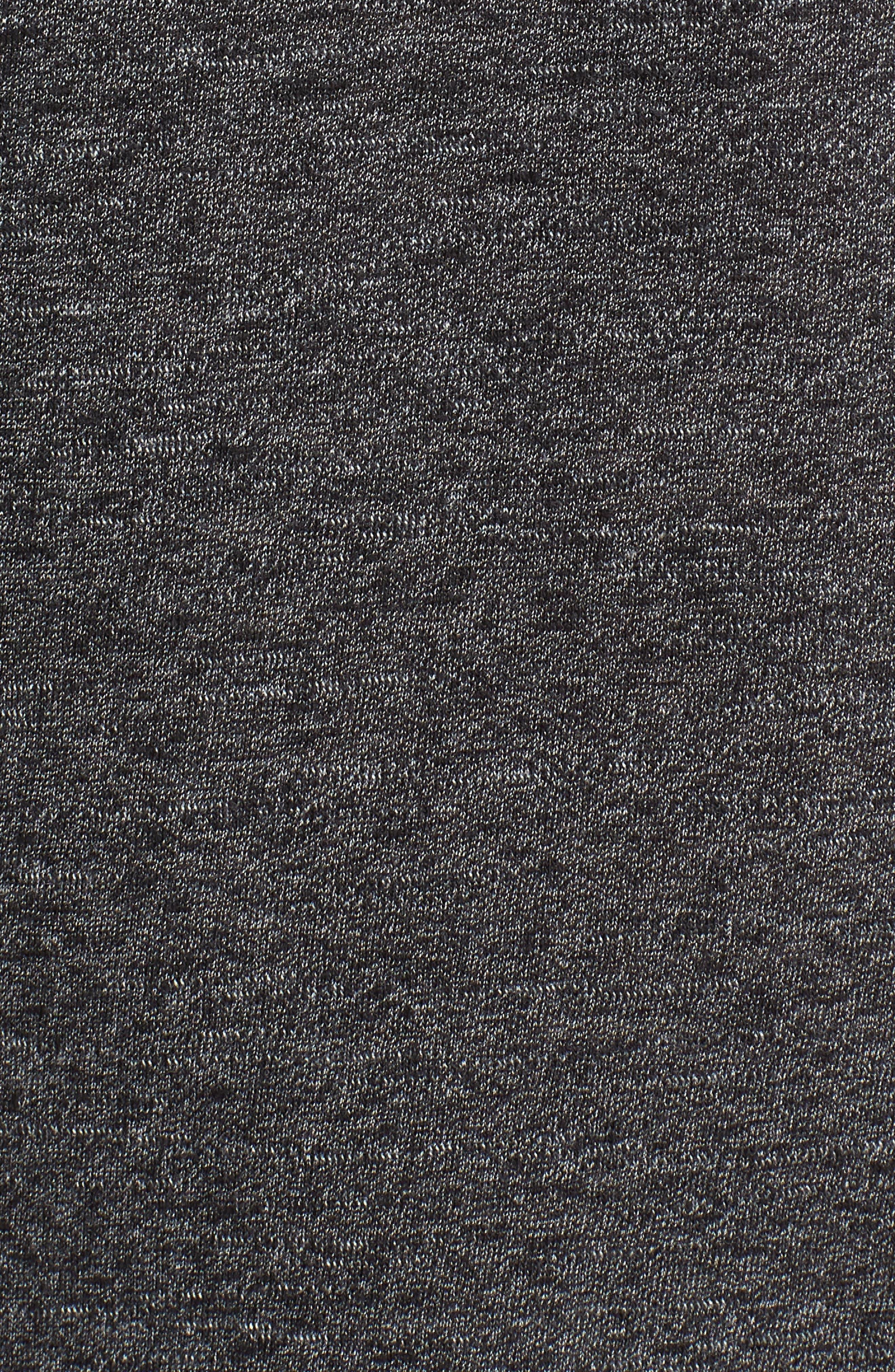 Swellagon Triblend T-Shirt,                             Alternate thumbnail 5, color,                             Black / Wolf Grey