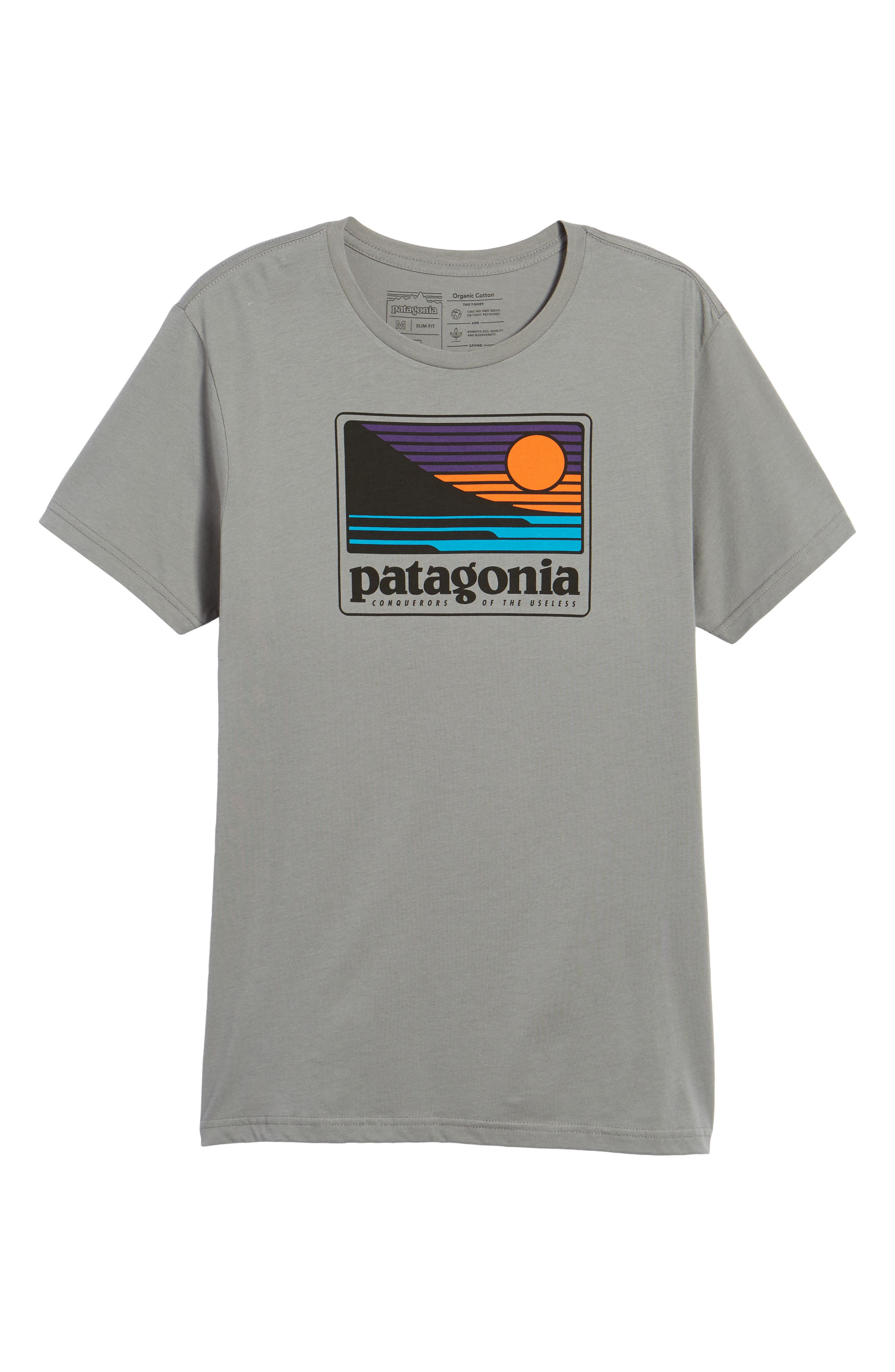 Up & Out Graphic Organic Cotton T-Shirt,                             Alternate thumbnail 6, color,                             Feather Grey
