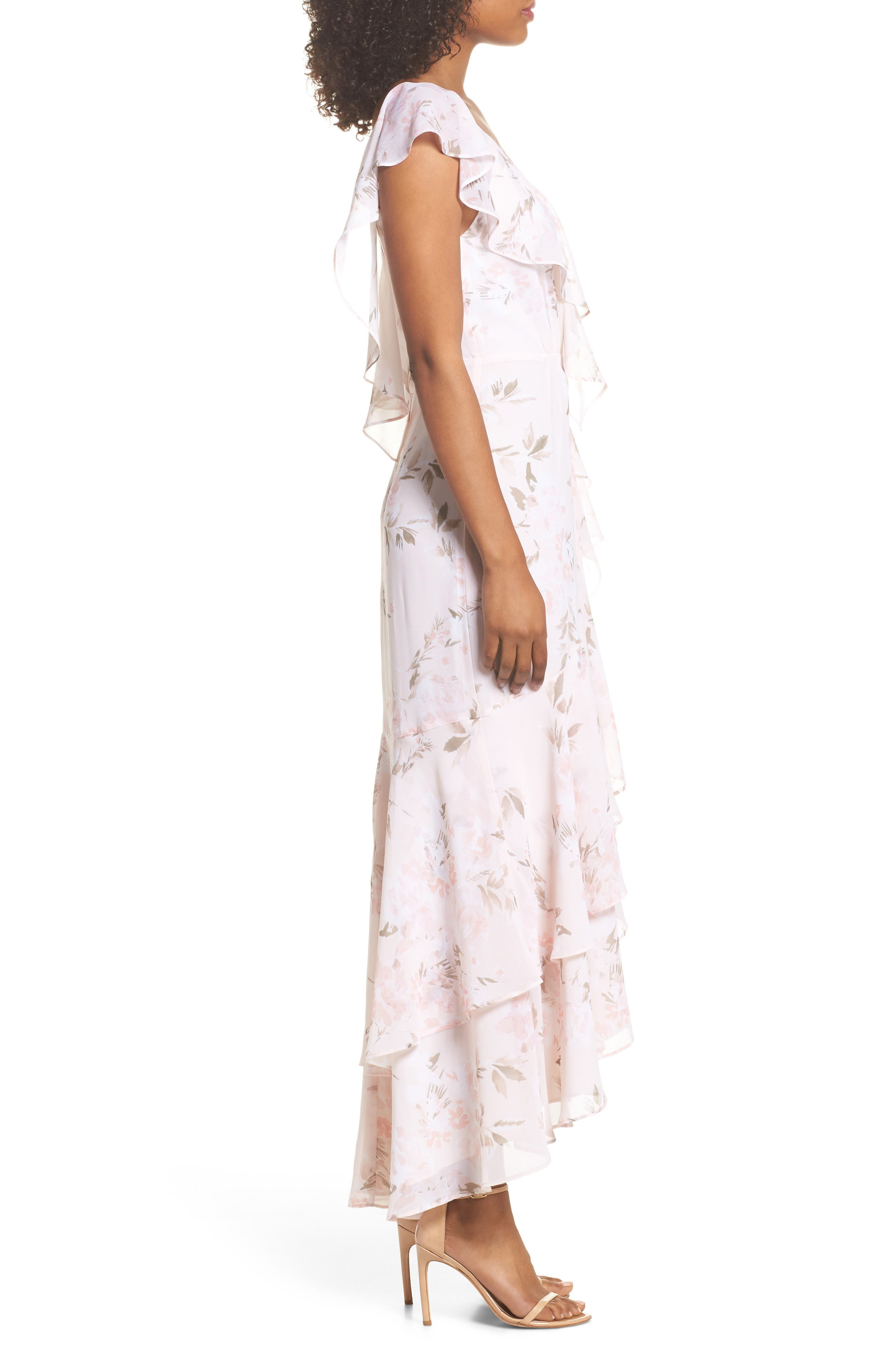 Alternate Image 3  - WAYF Elanor Ruffle Faux Wrap Maxi Dress