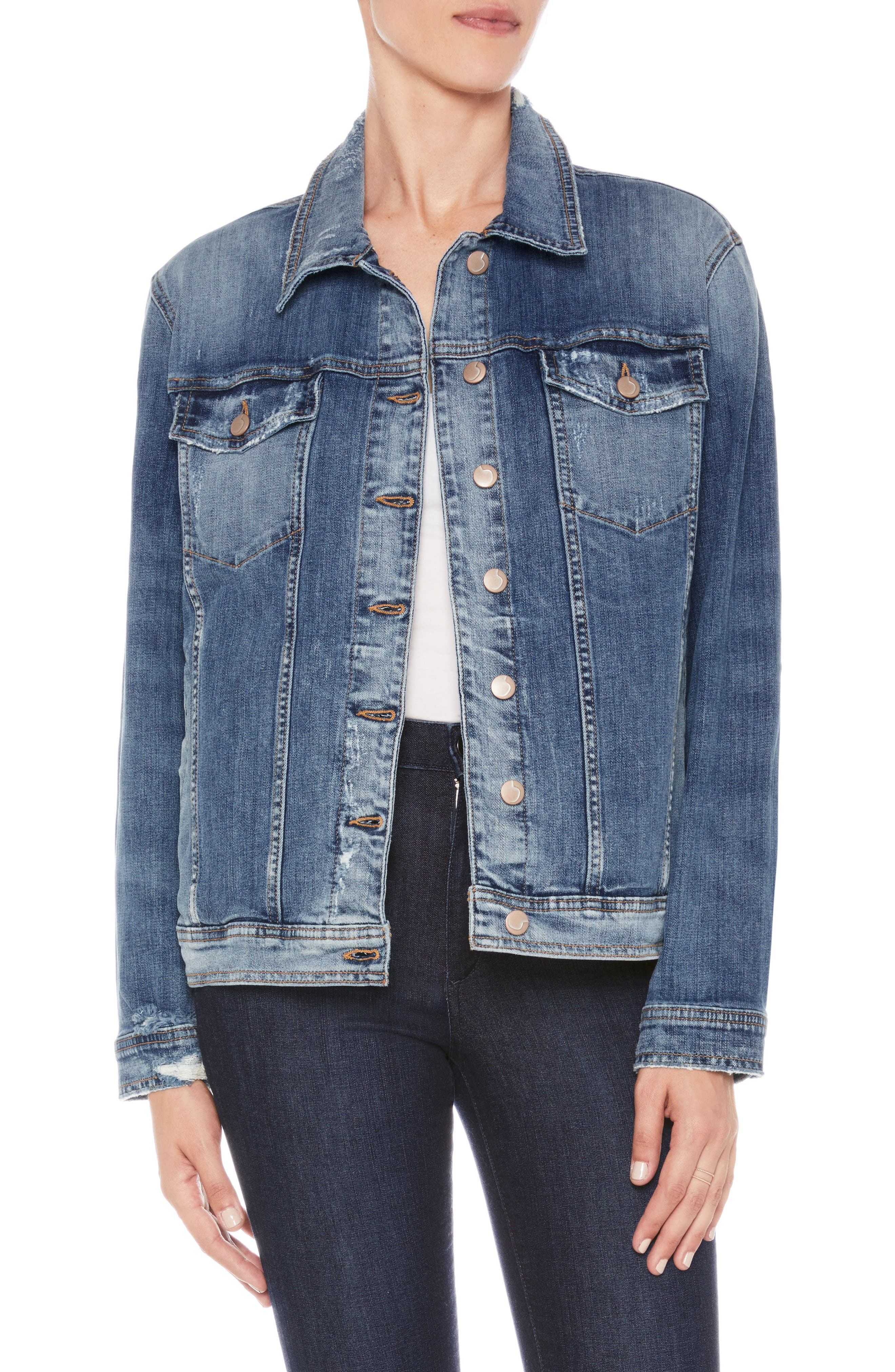 Oversize Denim Jacket,                         Main,                         color, Morgin
