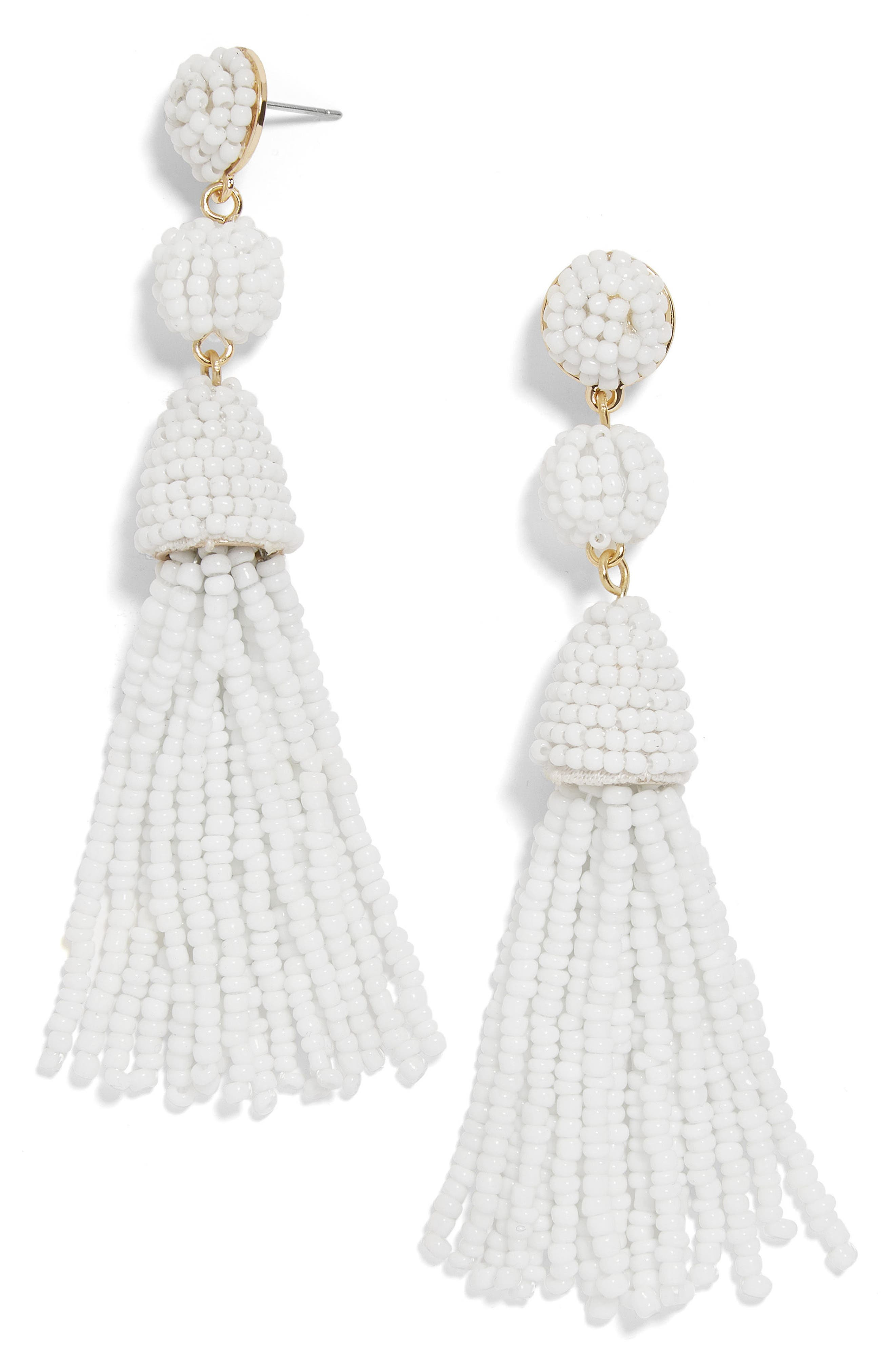 drop in ring earrings view beaded loft jewelry white fullscreen lyst