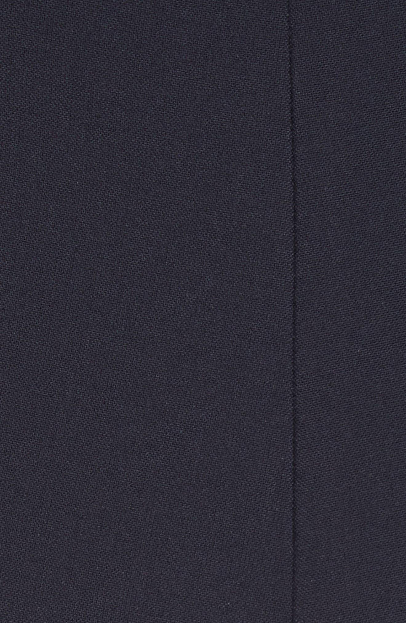 Foldover One Shoulder Jumpsuit,                             Alternate thumbnail 6, color,                             Navy