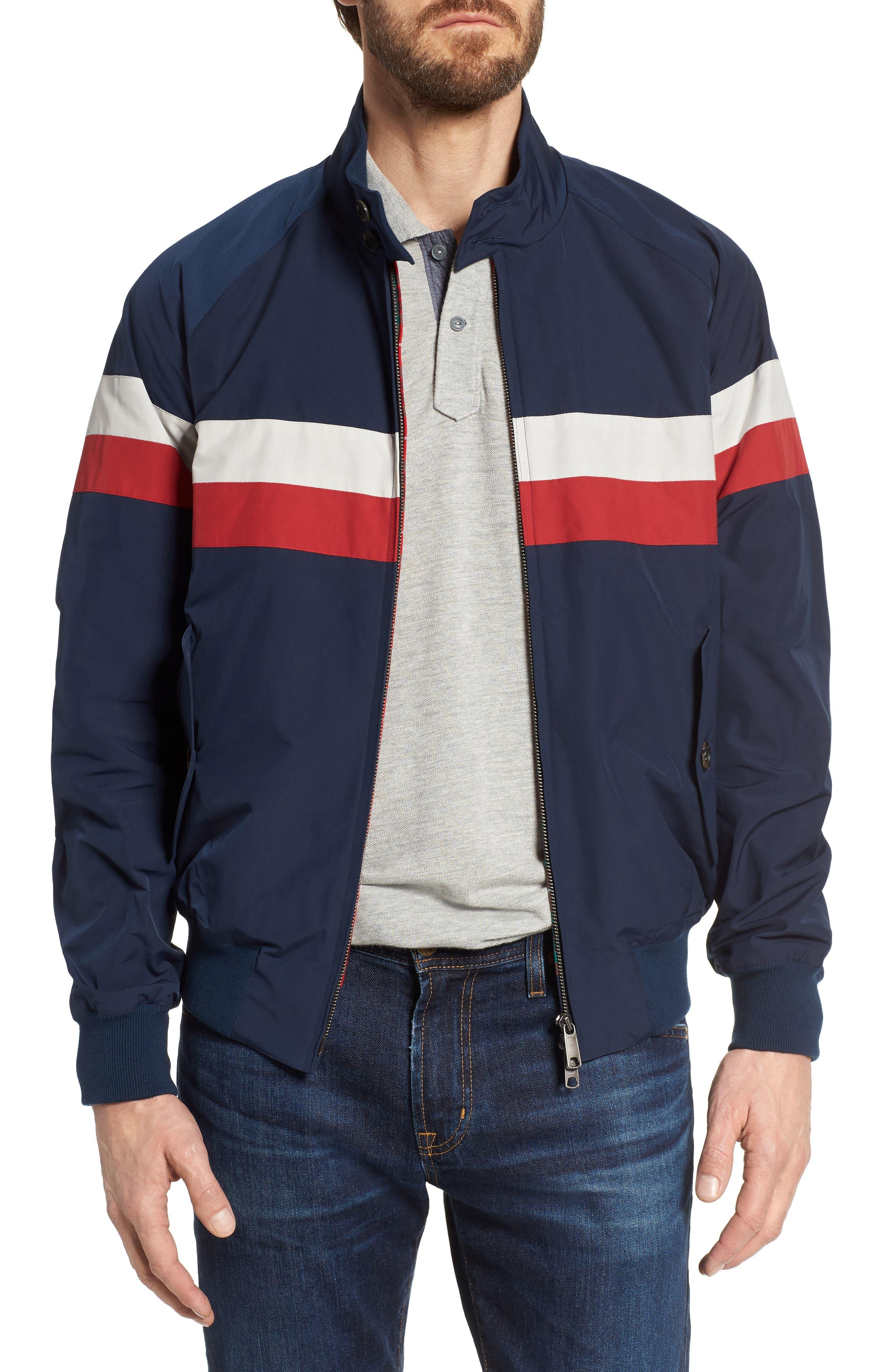G9 Varsity Jacket,                         Main,                         color, Navy