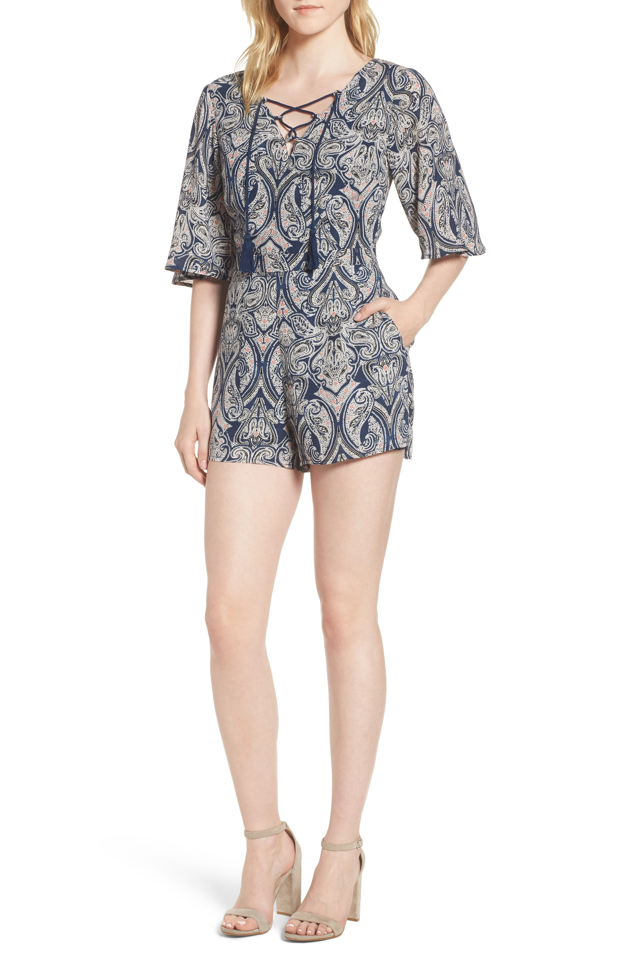 Alternate Image 1 Selected - cupcakes and cashmere Doretta Paisley Romper