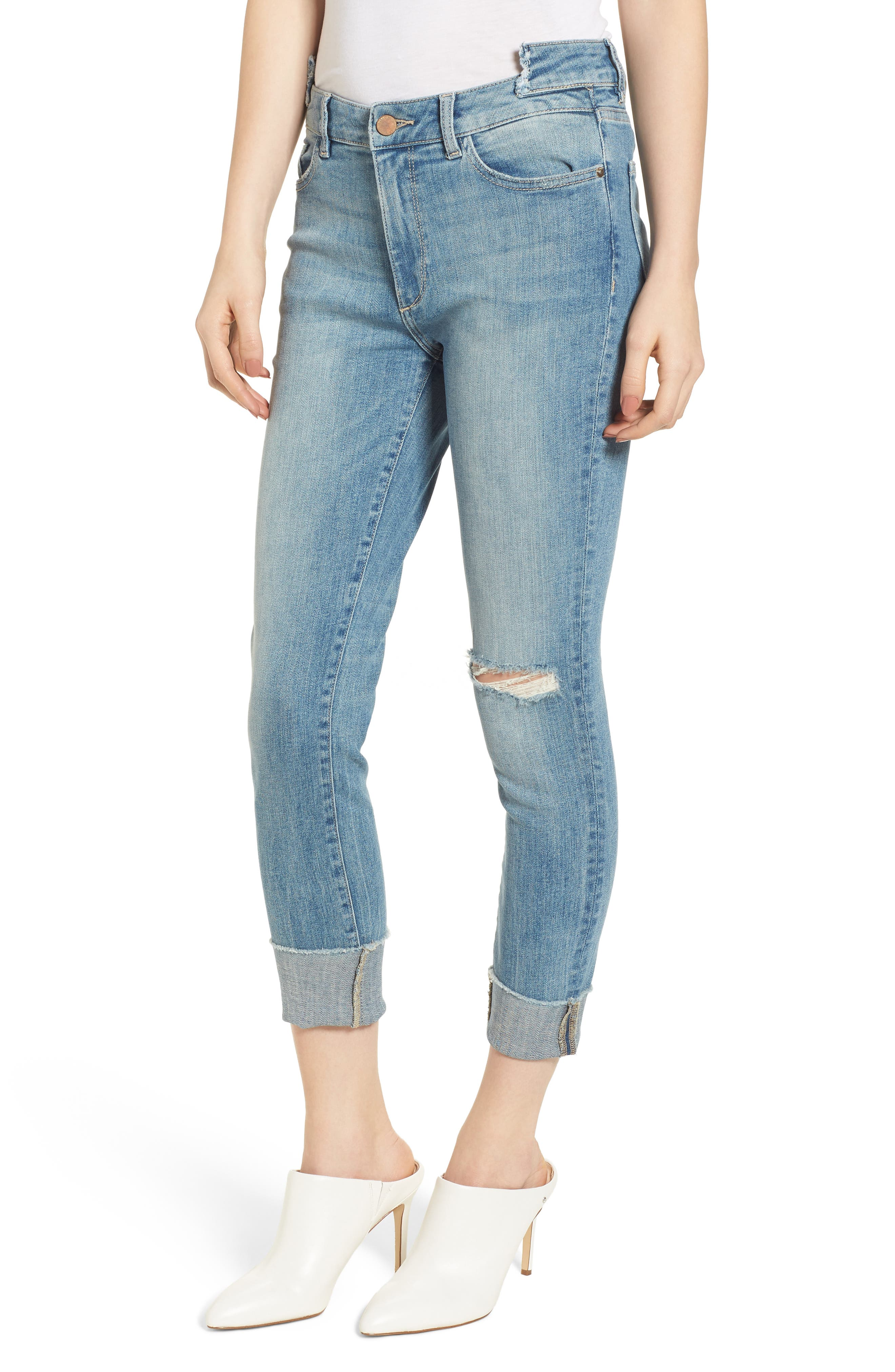 Farrow Instaslim High Waist Ankle Skinny Jeans,                         Main,                         color, Amarillo