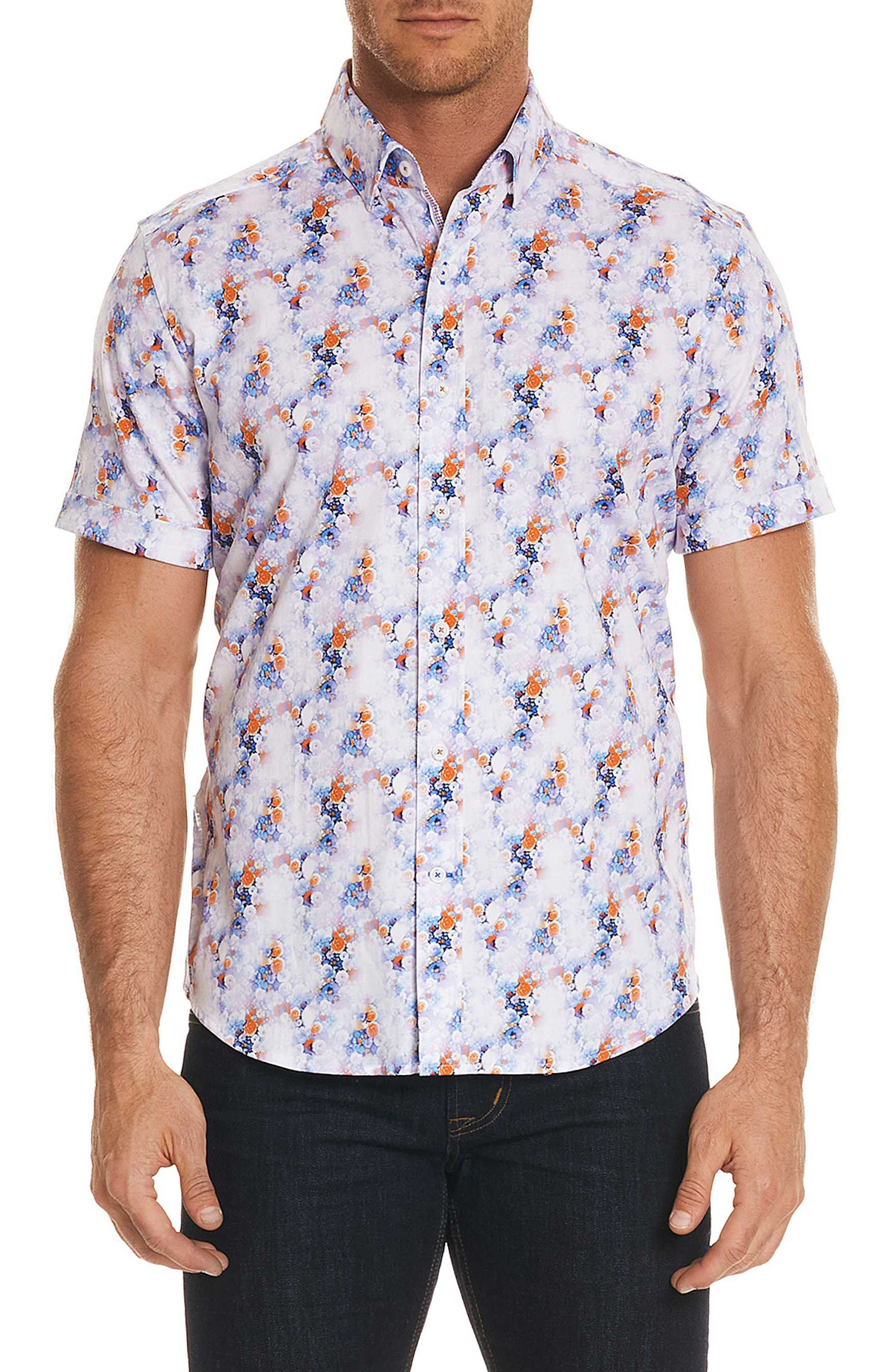 Bodie Tailored Fit Sport Shirt,                         Main,                         color, Multi
