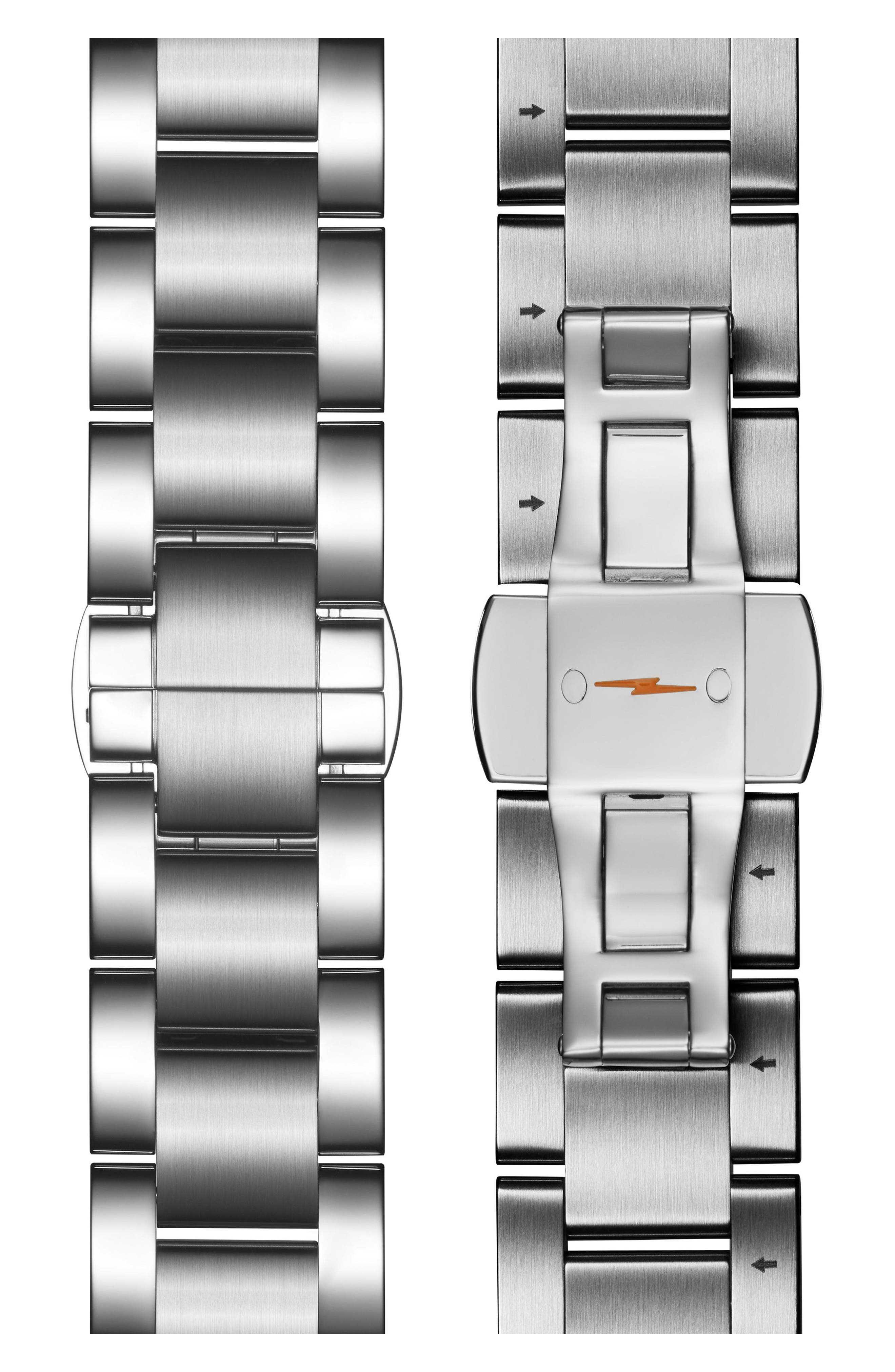 The Runwell Bracelet Watch, 47mm,                             Alternate thumbnail 3, color,                             Silver/ Slate Blue/ Silver