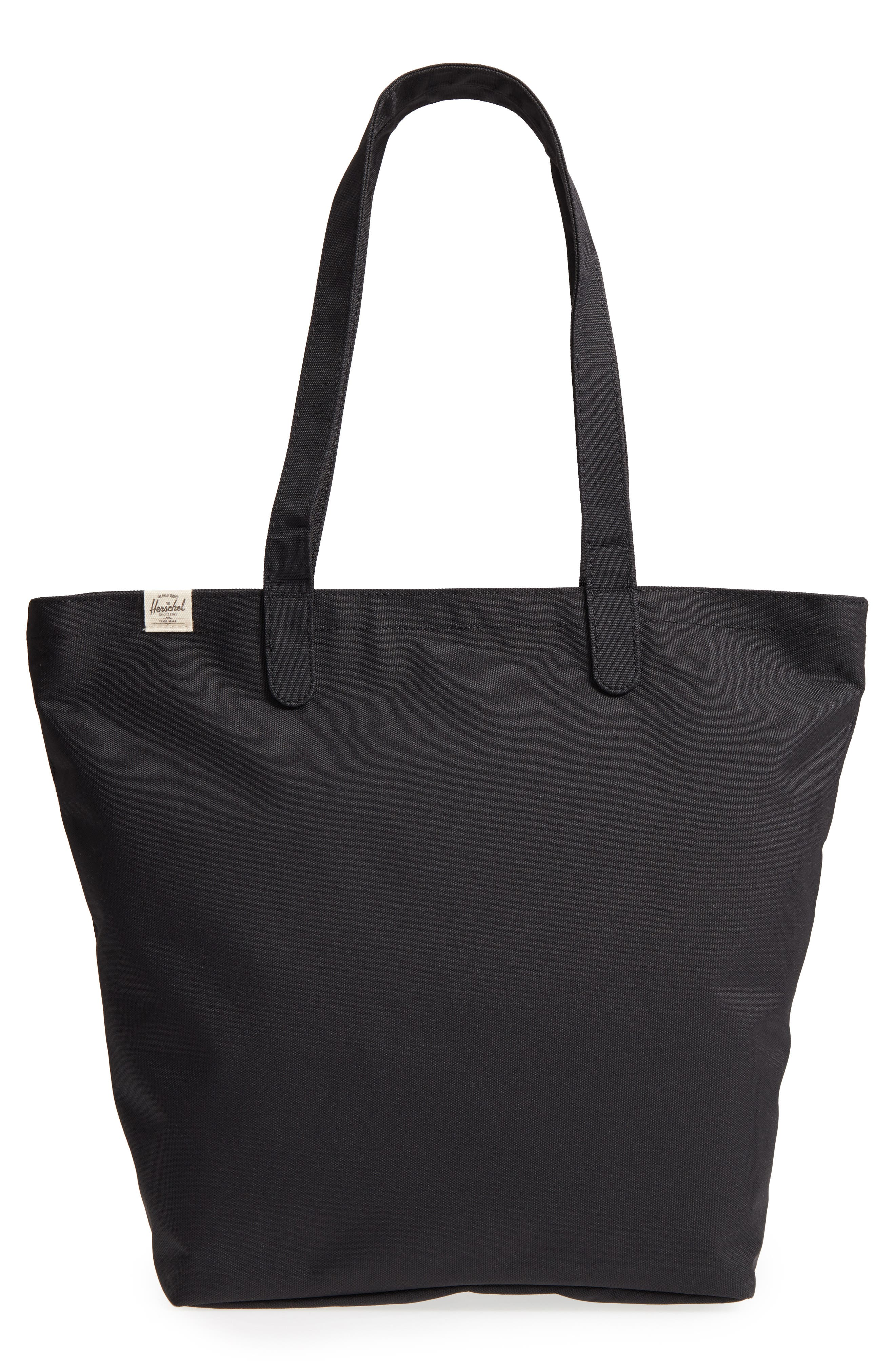 Mica Canvas Tote,                             Main thumbnail 1, color,                             Black