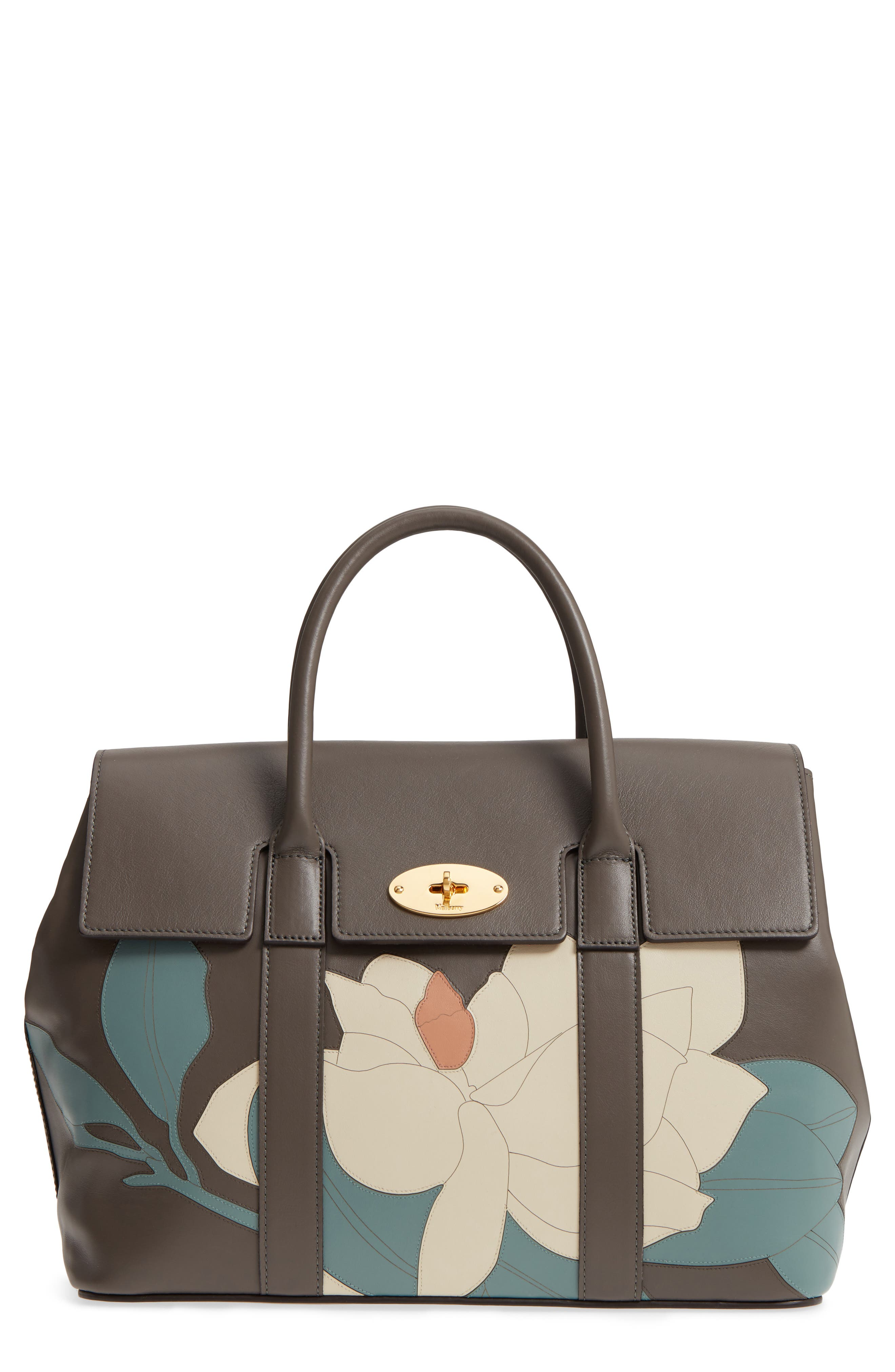 Mulberry Bayswater Magnolia Leather Satchel