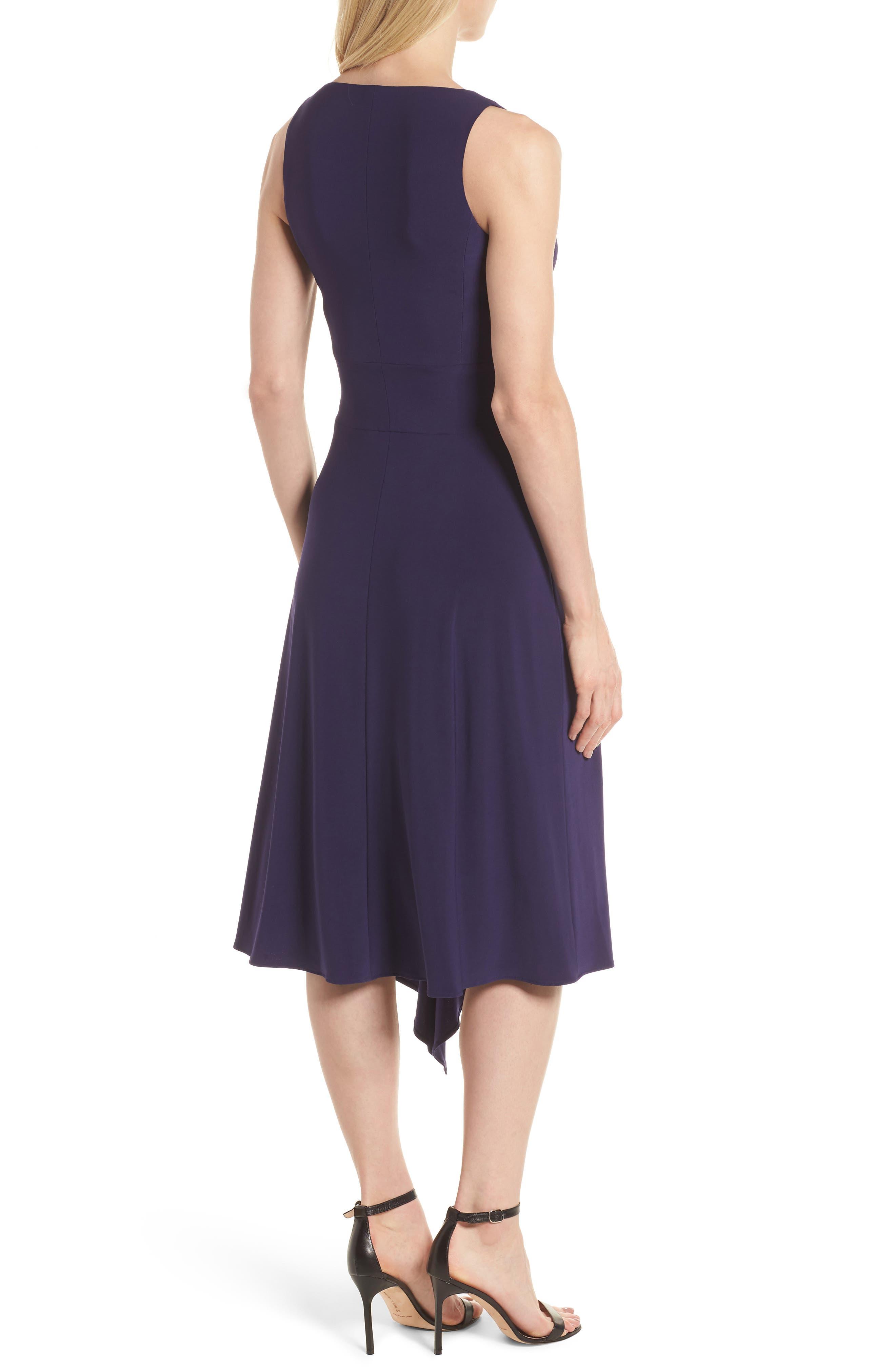 Asymmetrical Knit Dress,                             Alternate thumbnail 2, color,                             Monaco