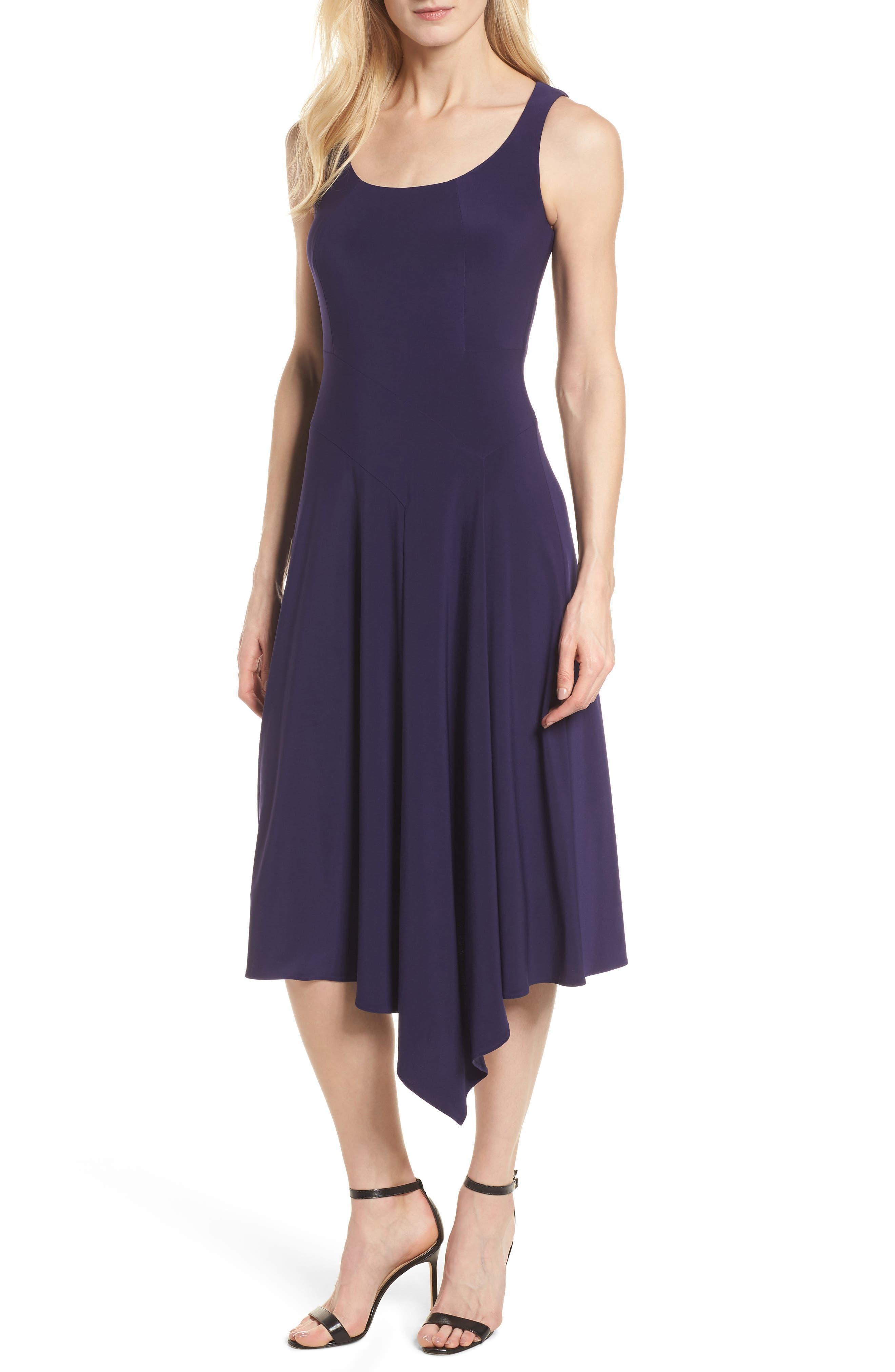 Asymmetrical Knit Dress,                             Main thumbnail 1, color,                             Monaco