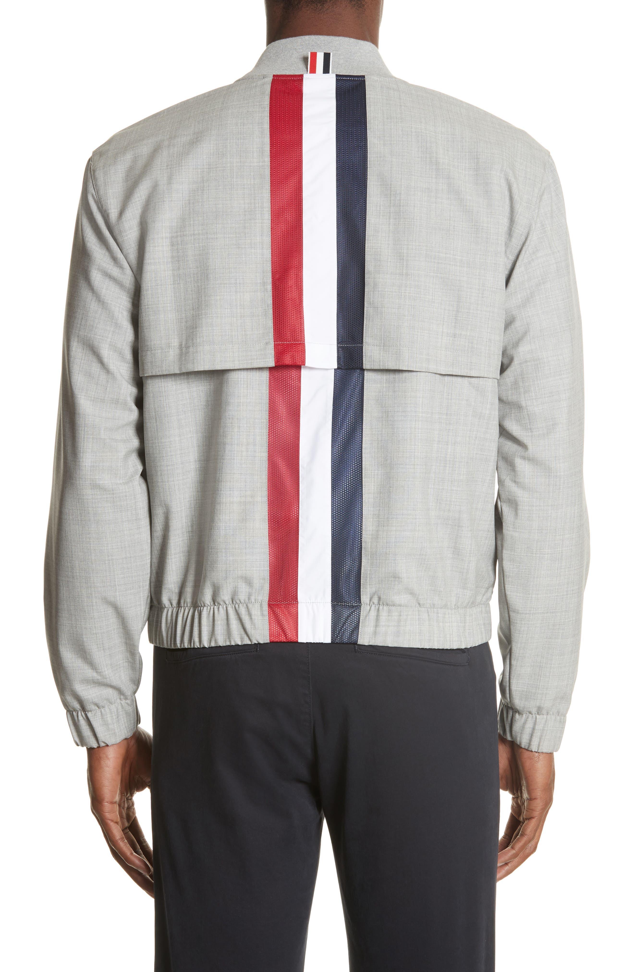 Lightweight Wool Bomber Jacket,                             Alternate thumbnail 2, color,                             Light Grey