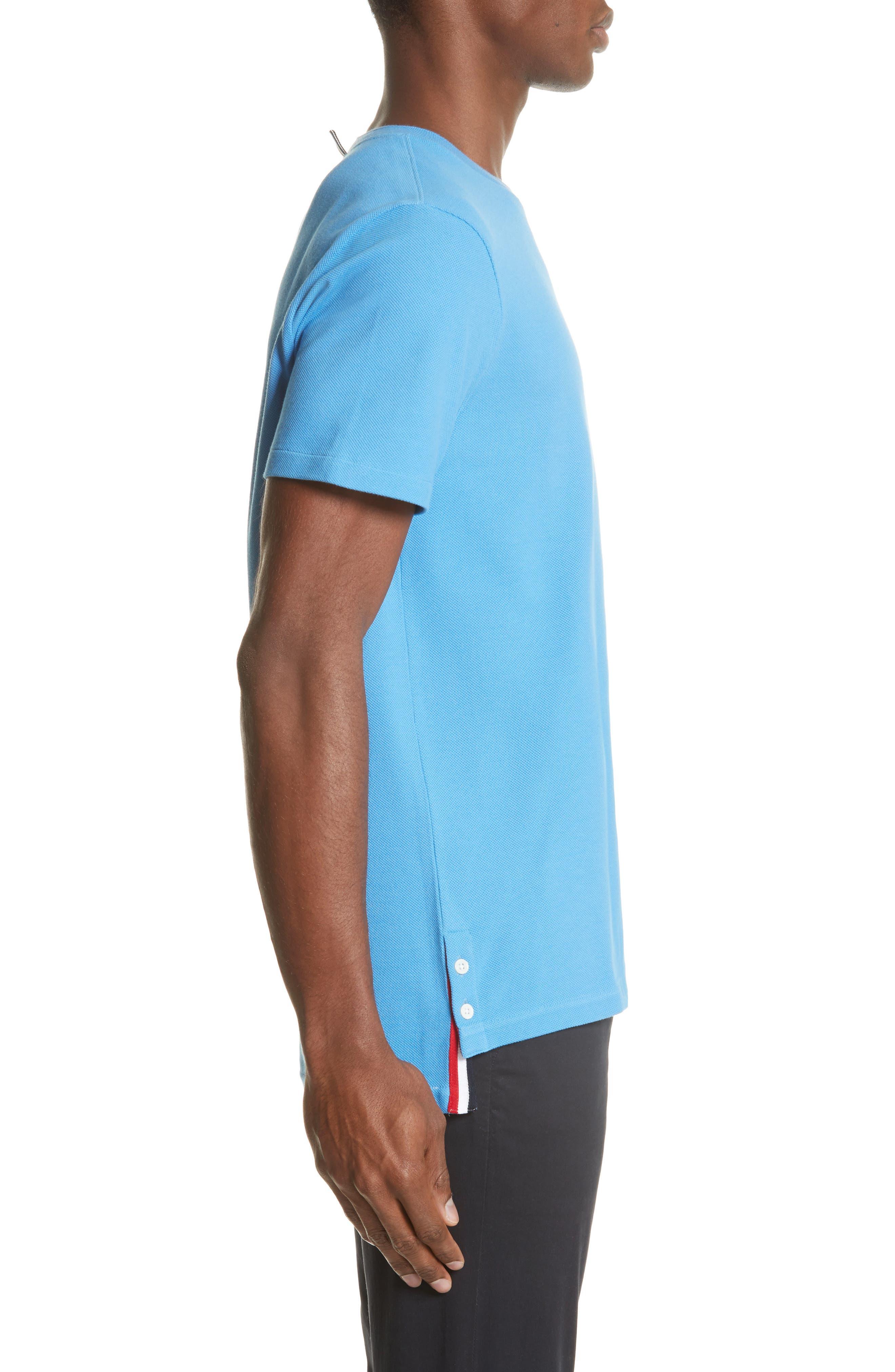 Stripe Crewneck T-Shirt,                             Alternate thumbnail 3, color,                             Light Blue
