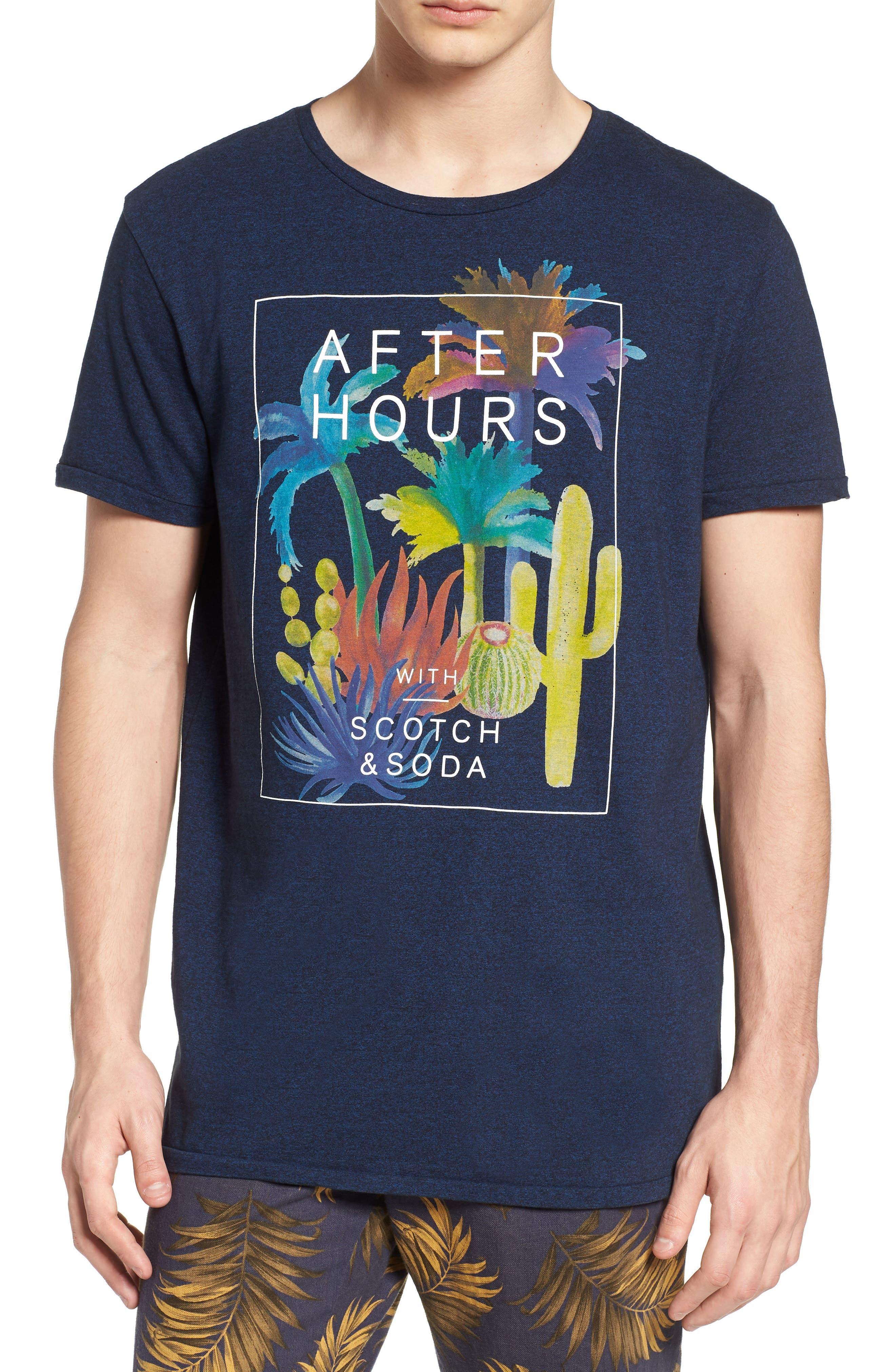 Graphic T-Shirt,                         Main,                         color, Night Melange