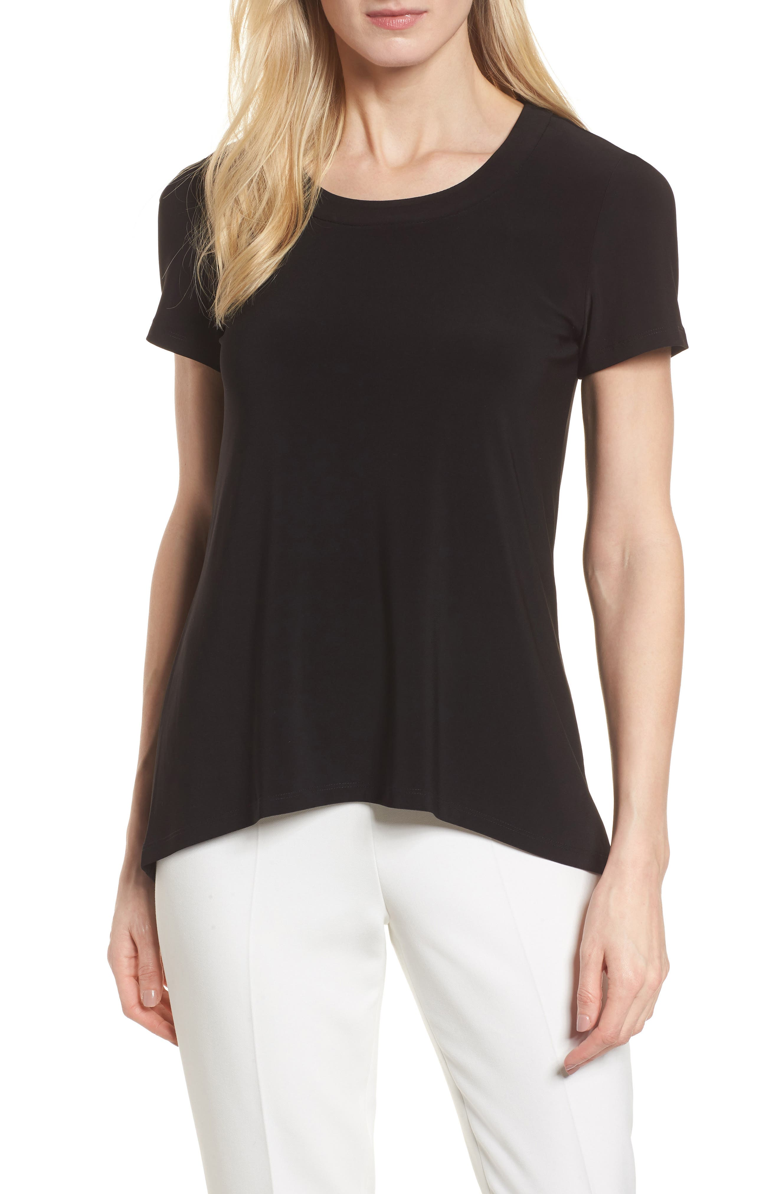 High/Low Tee,                         Main,                         color, Black