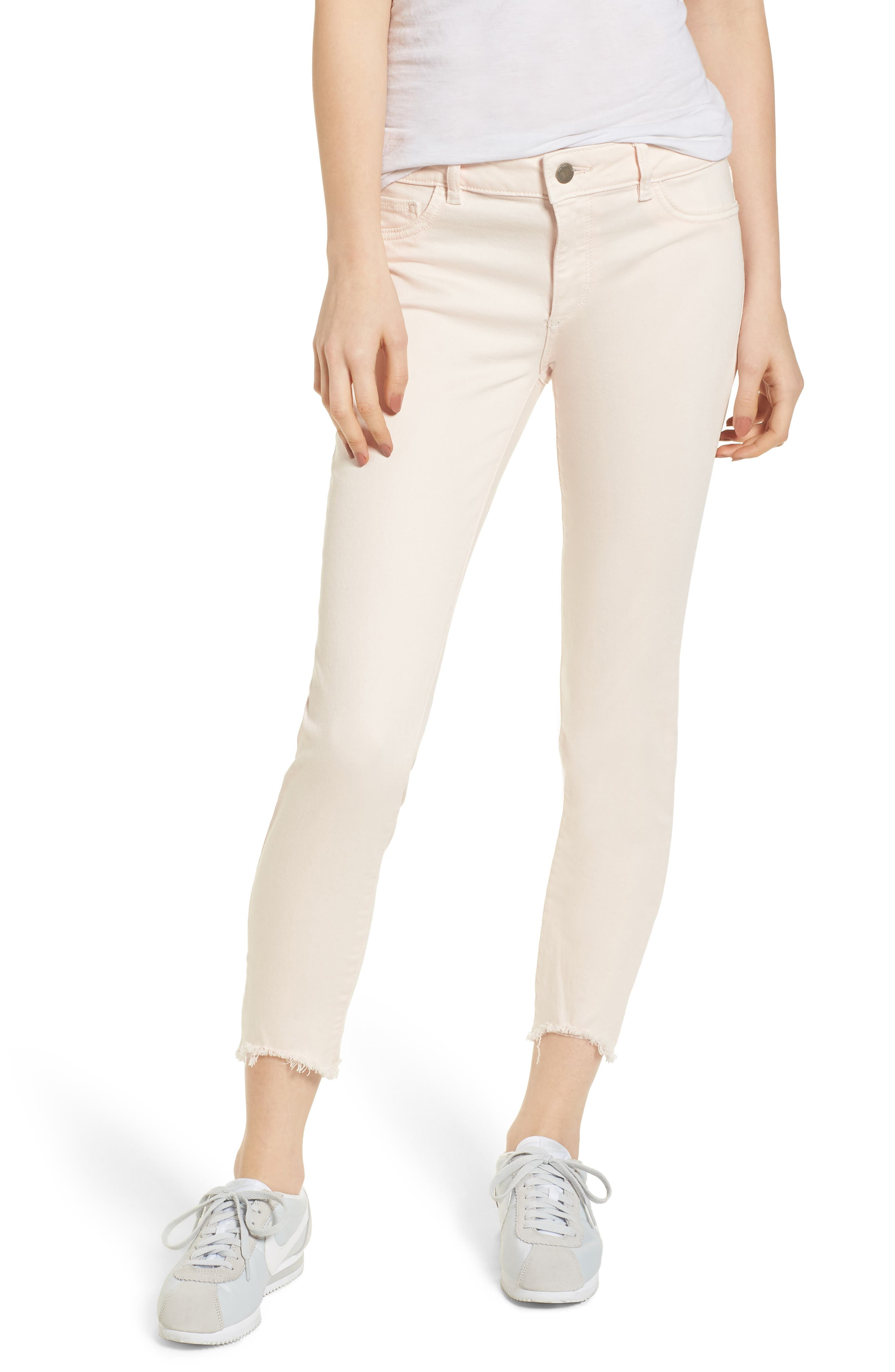 Florence Instasculpt Crop Skinny Jeans,                             Main thumbnail 1, color,                             Blush Pink