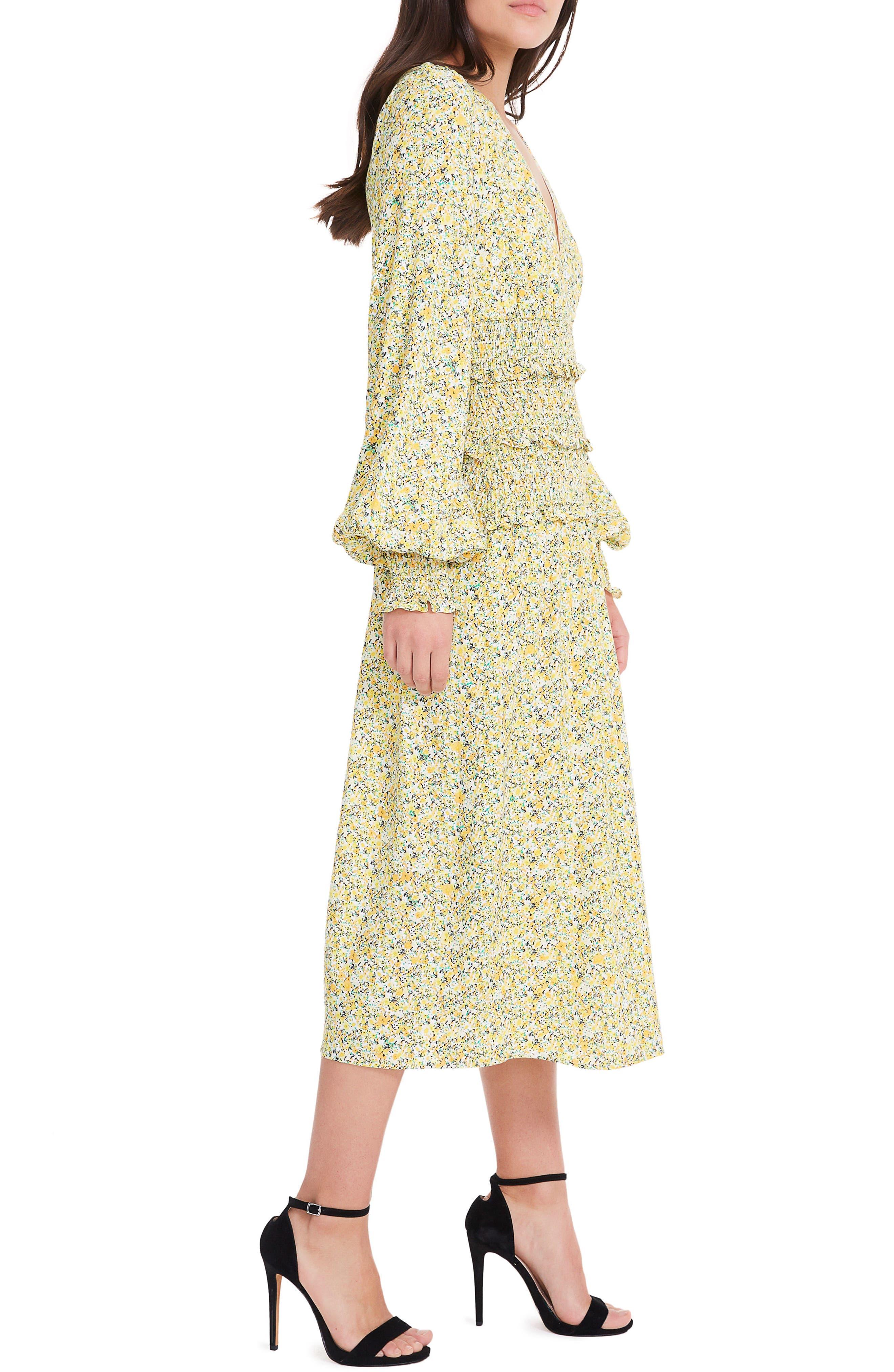 Alternate Image 3  - AFRM Hazel Smocked Midi Dress