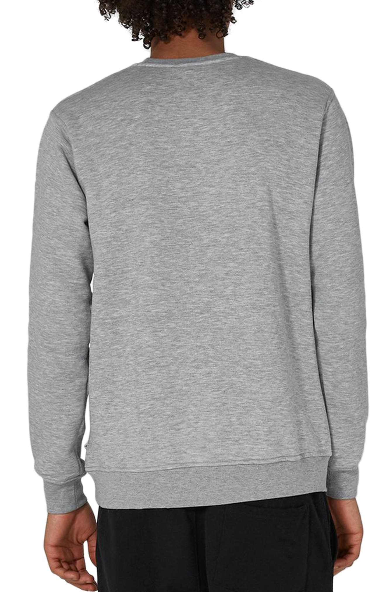 NICCE Logo Patch Sweatshirt,                             Alternate thumbnail 2, color,                             Grey Multi