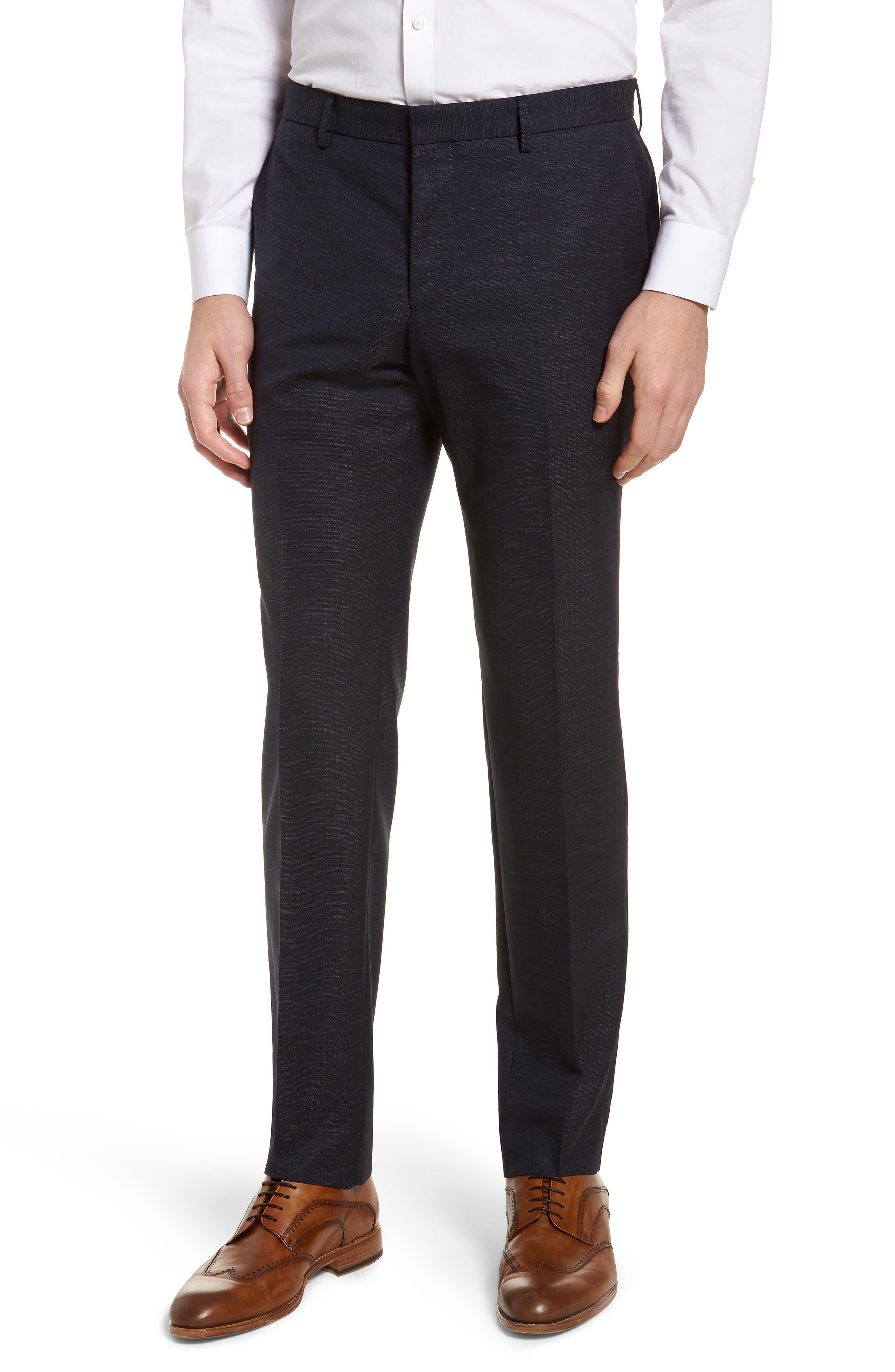 Novan/Ben Trim Fit Solid Wool Blend Suit,                             Alternate thumbnail 6, color,                             Navy