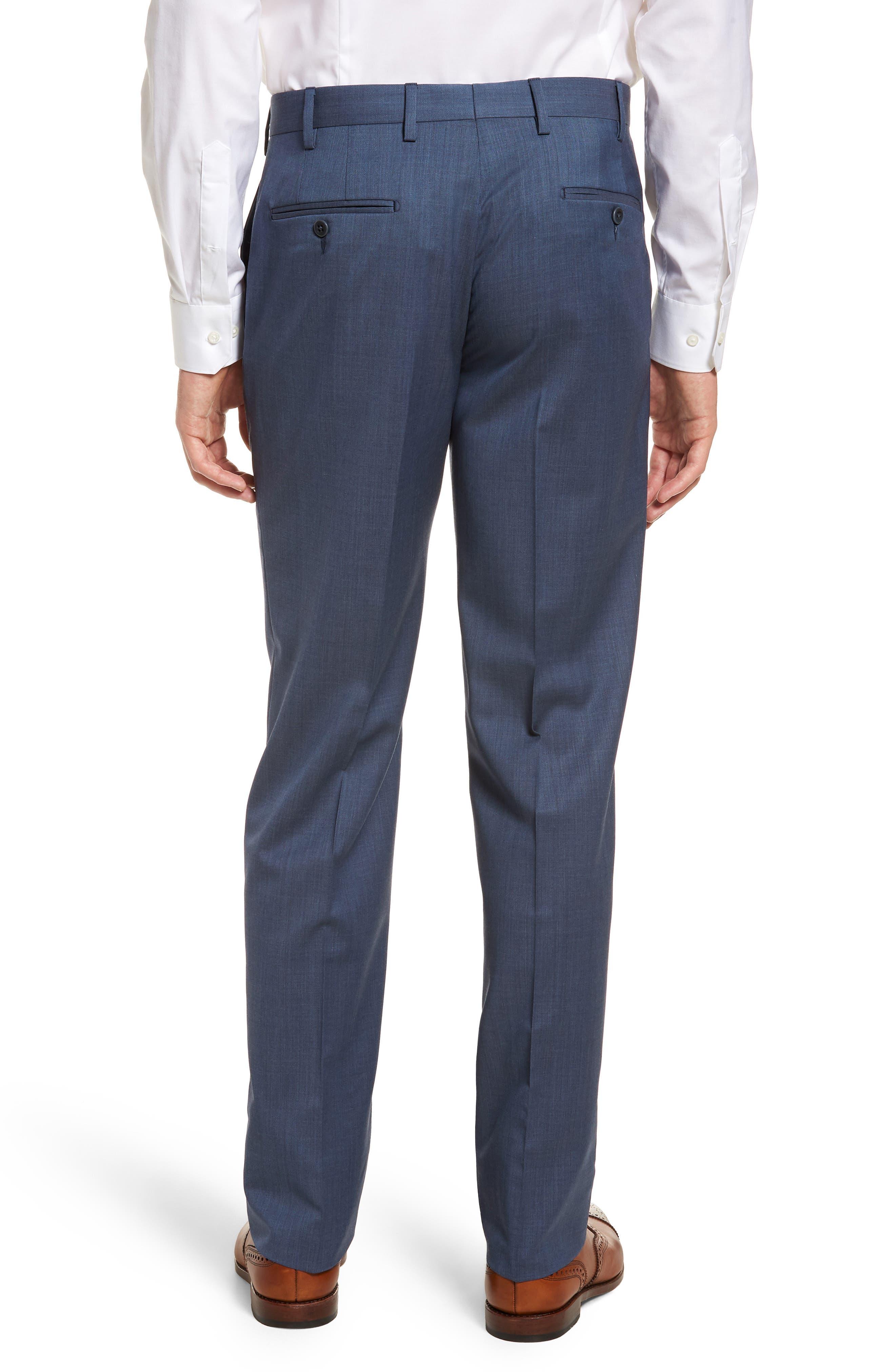 Alternate Image 4  - Zanella Devon Flat Front Solid Wool Serge Trousers