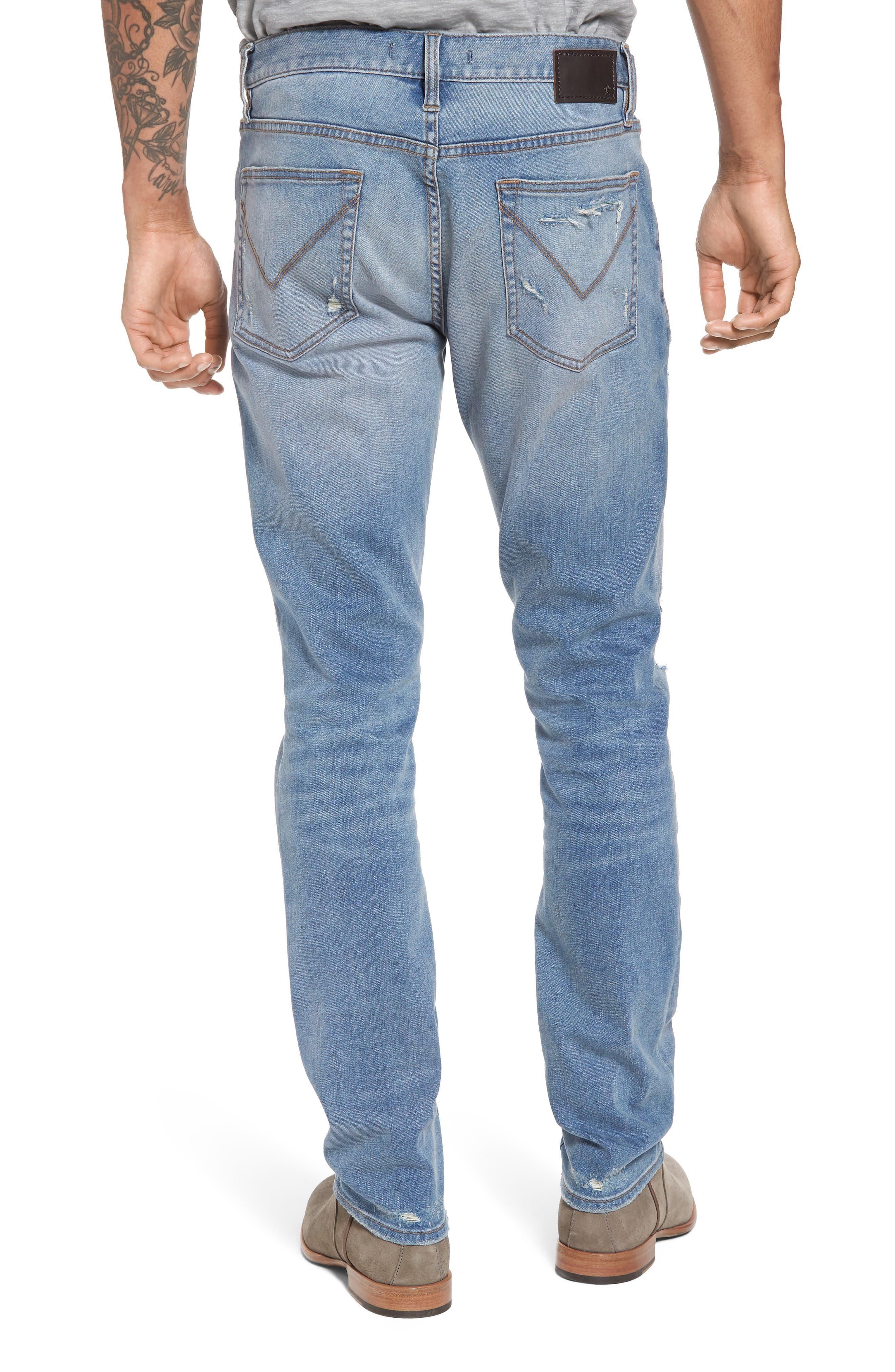 Wight Slim Fit Straight Leg Jeans,                             Alternate thumbnail 2, color,                             Atlantic Blue