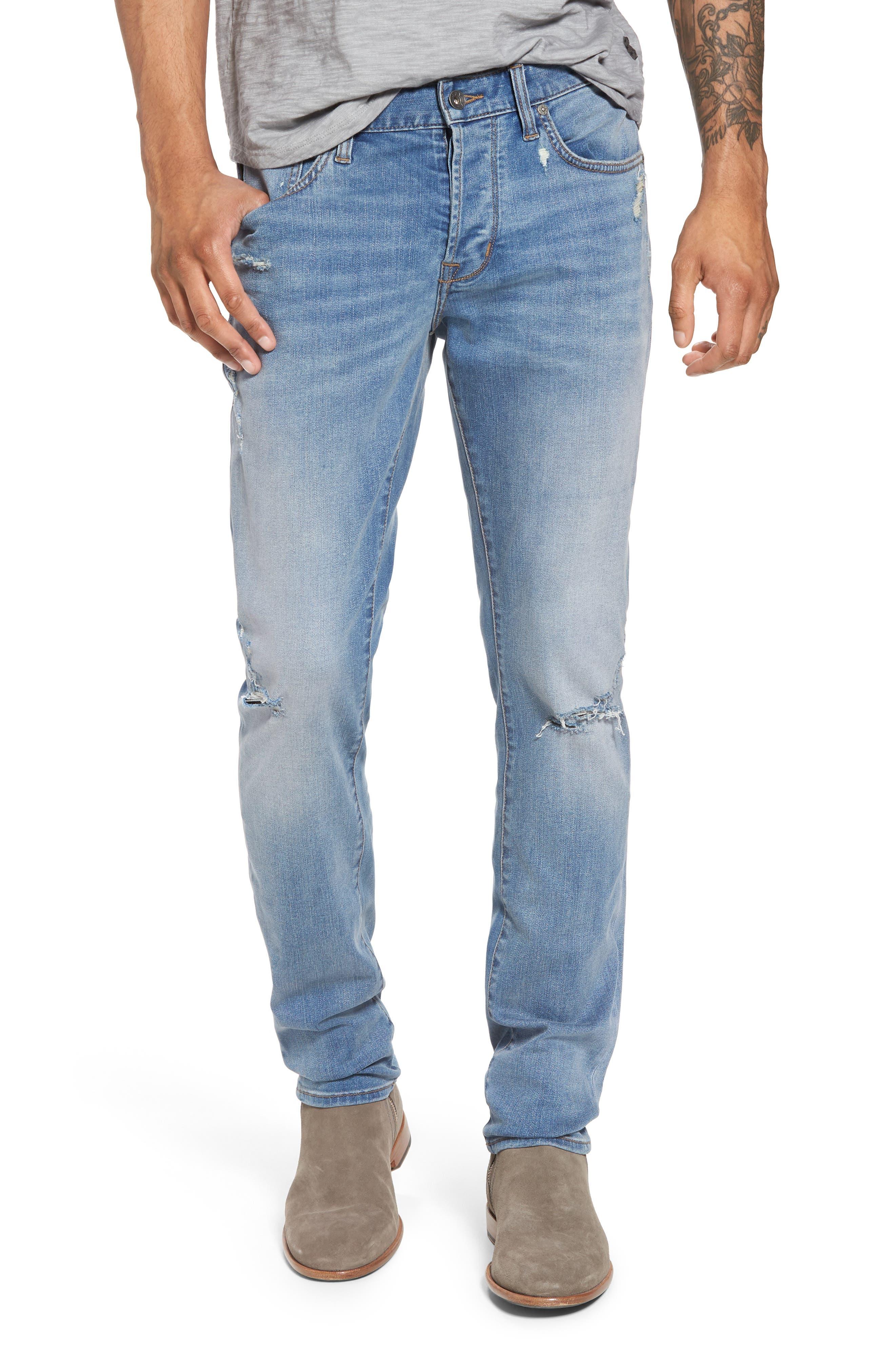 John Varvatos Star USA Wight Slim Fit Straight Leg Jeans