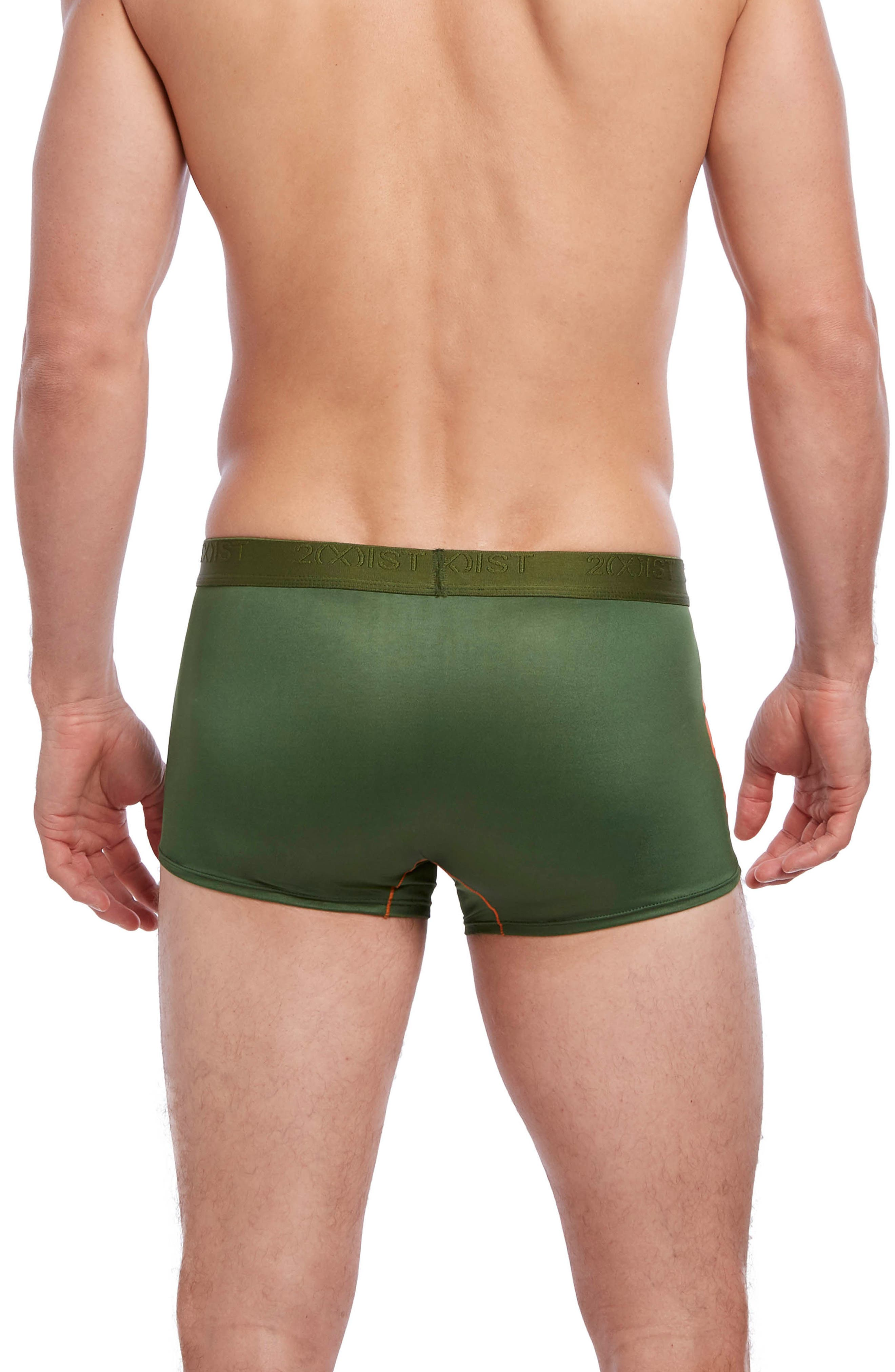 Military No-Show Trunks,                             Alternate thumbnail 2, color,                             Chive/ Golden Poppy