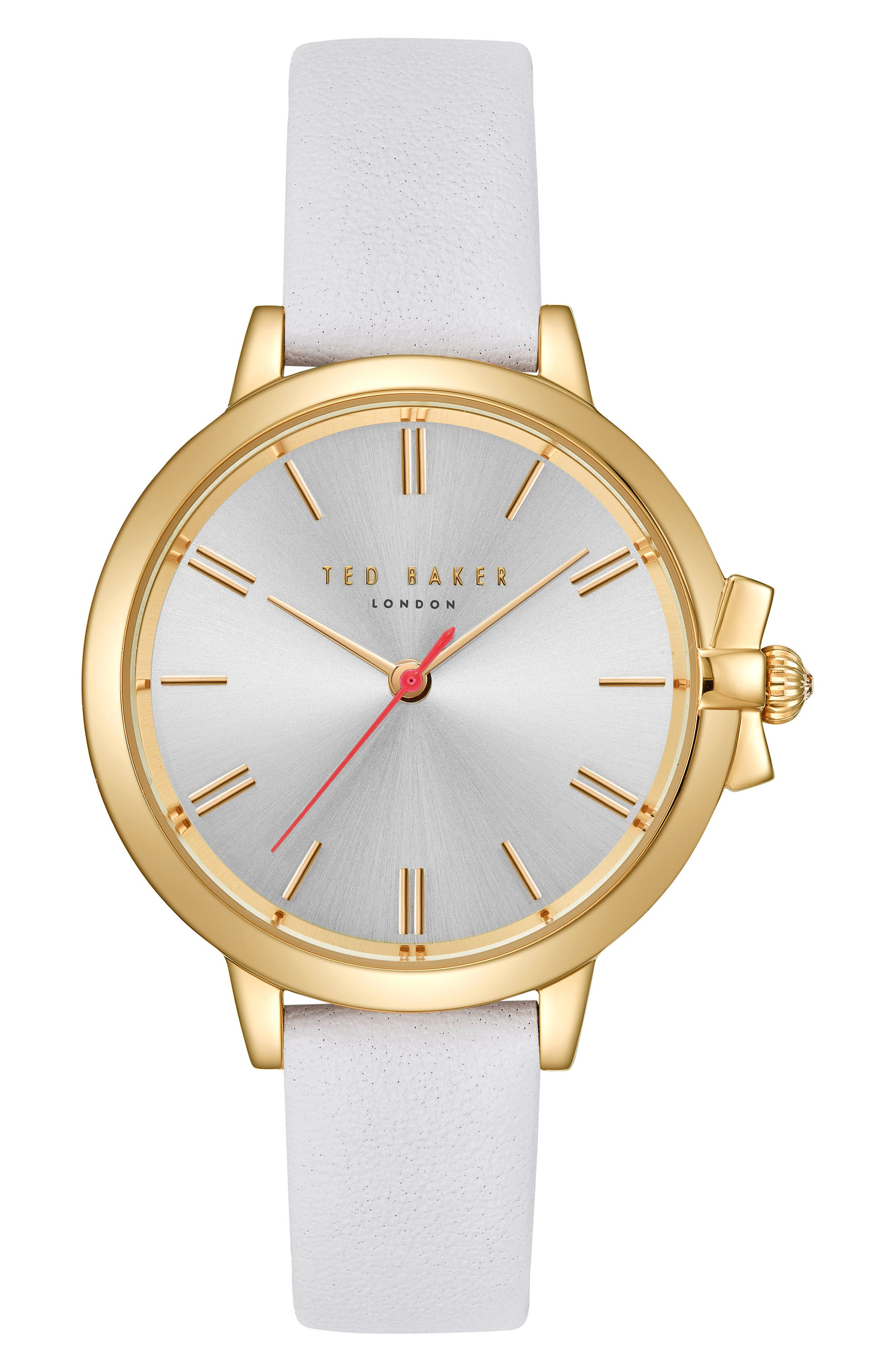Main Image - Ted Baker London Leather Strap Watch, 36mm