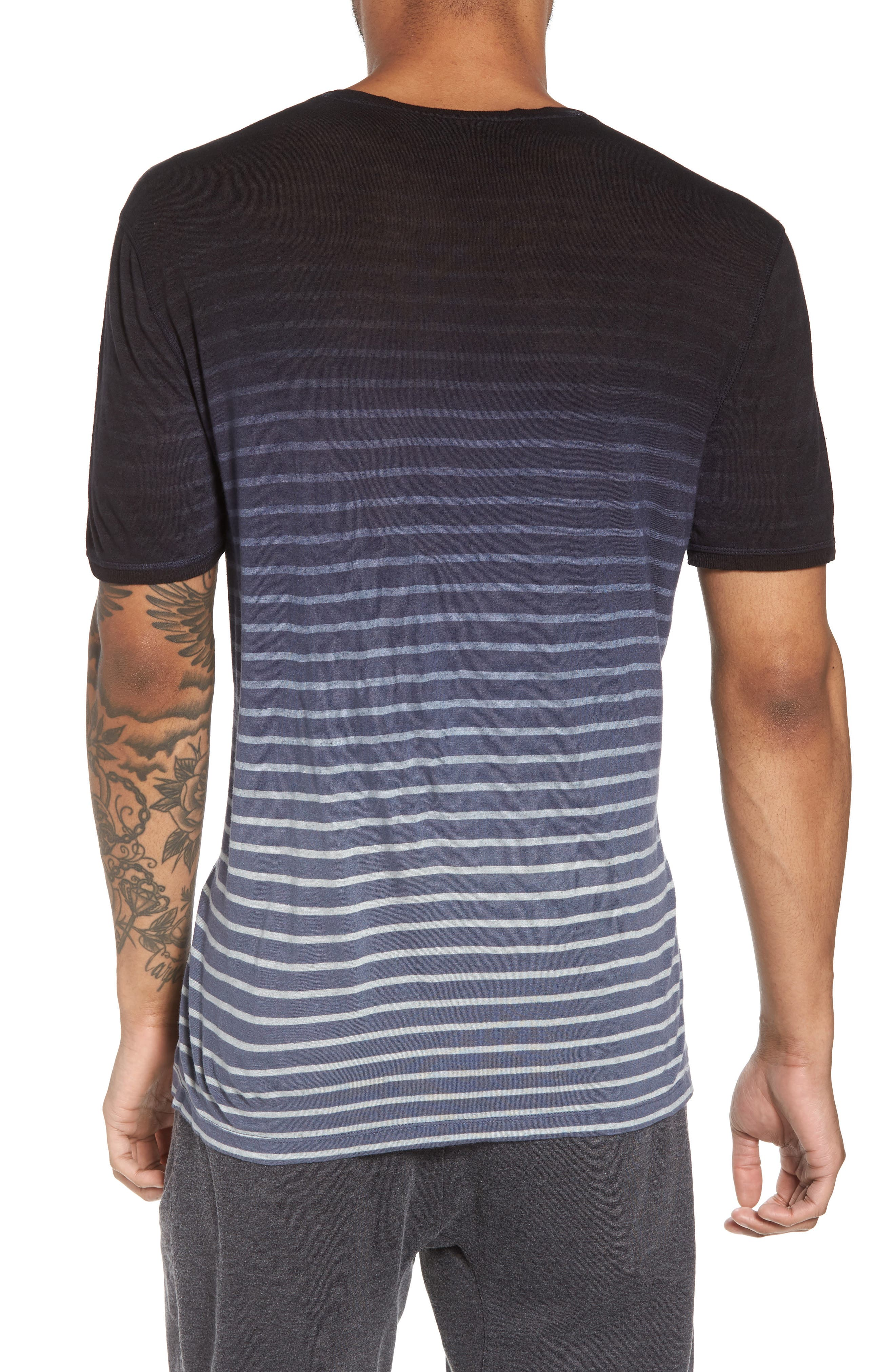 Ombré Stripe T-Shirt,                             Alternate thumbnail 2, color,                             Lake Blue