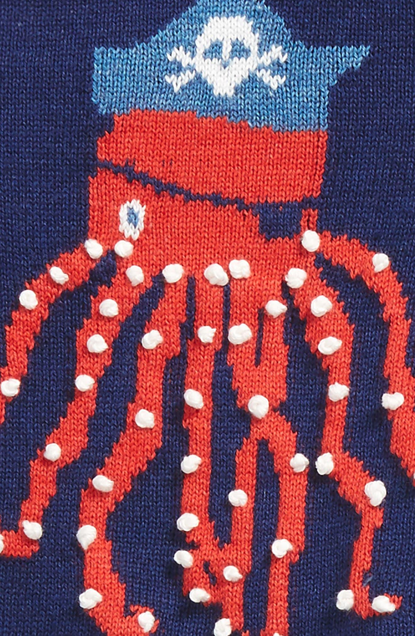 Octopus Sweater & Pants Set,                             Alternate thumbnail 2, color,                             Beacon Blue Octopus
