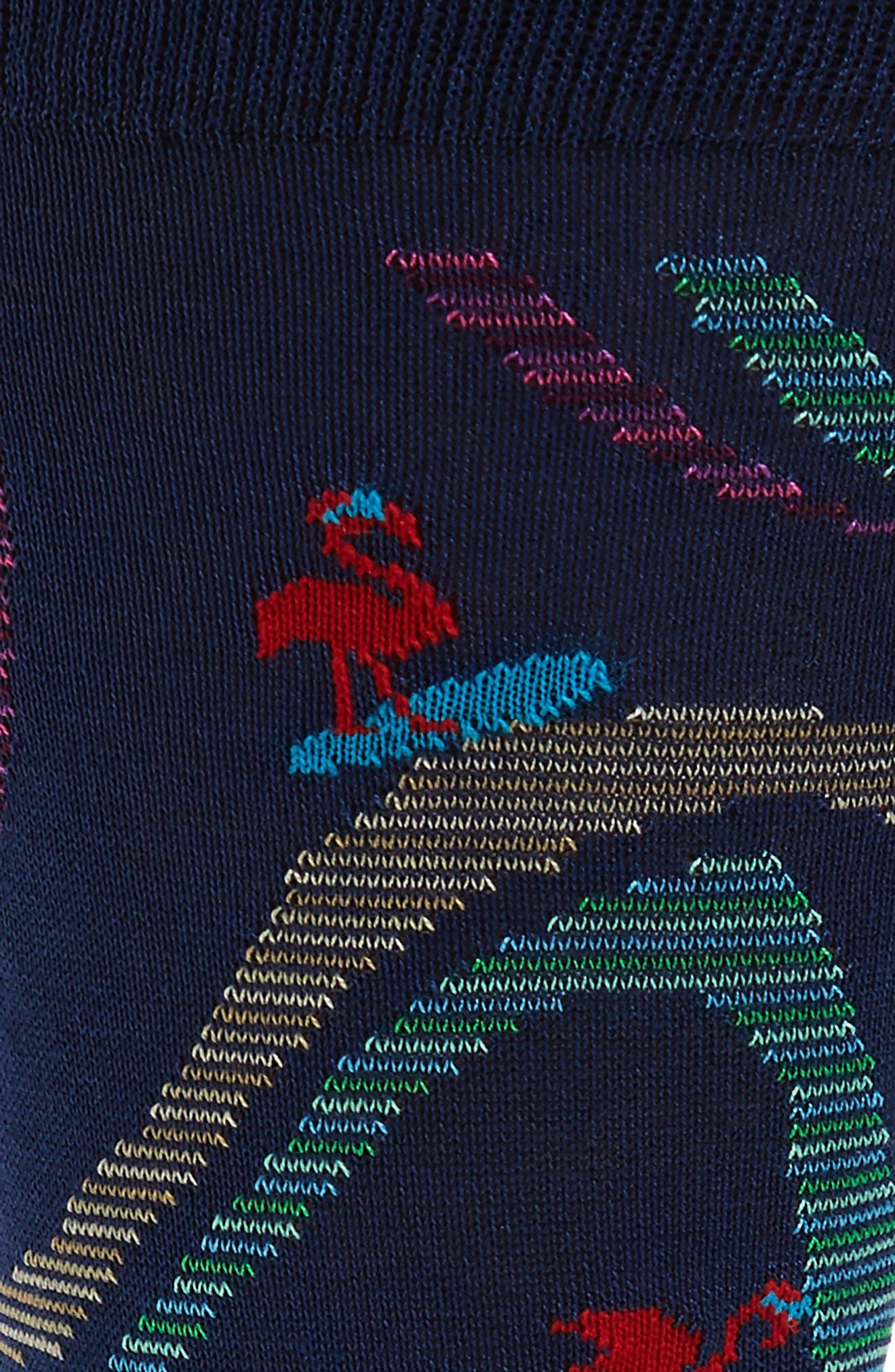 Mercerized Cotton Blend Socks,                             Alternate thumbnail 2, color,                             Navy