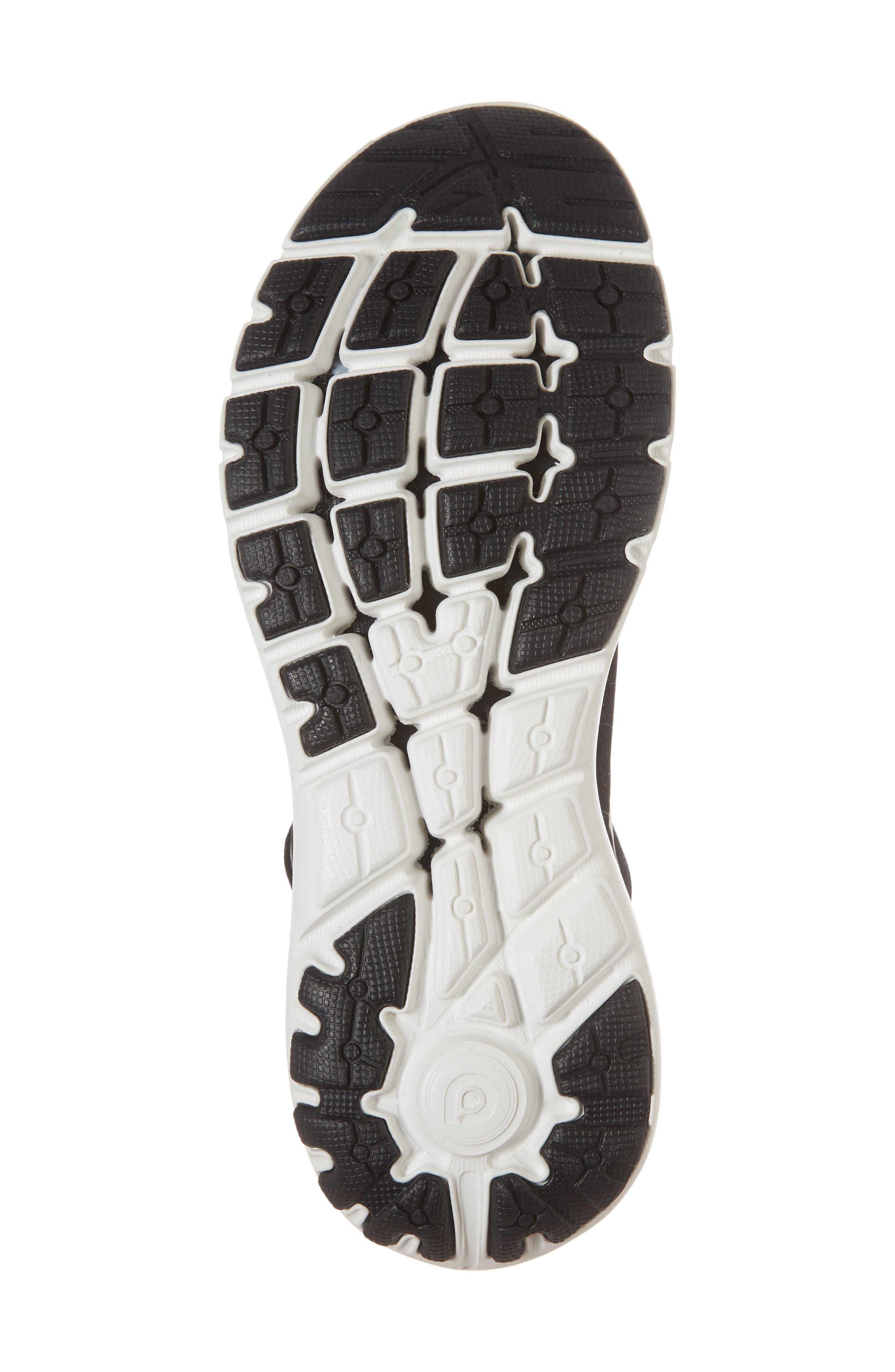 PureFlow 7 Running Shoe,                             Alternate thumbnail 6, color,                             Black/ White