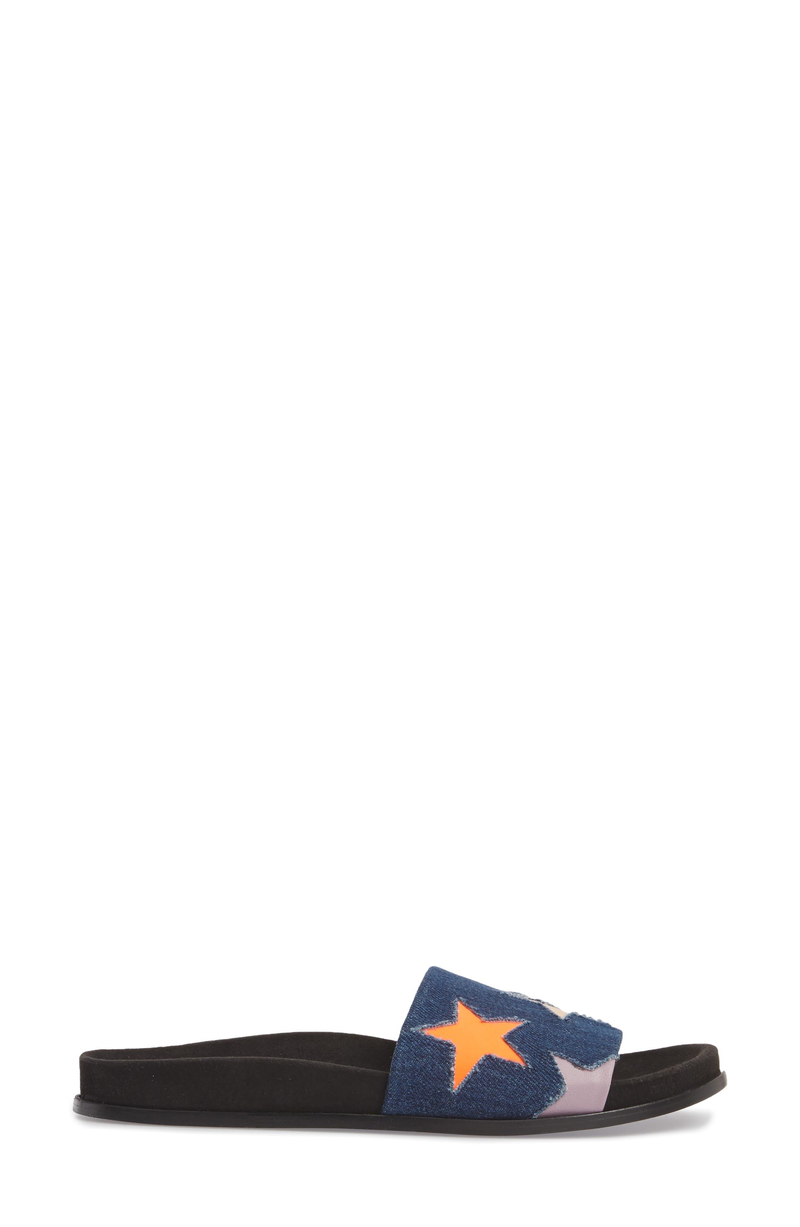 Star Slide Sandal,                             Alternate thumbnail 3, color,                             Navy