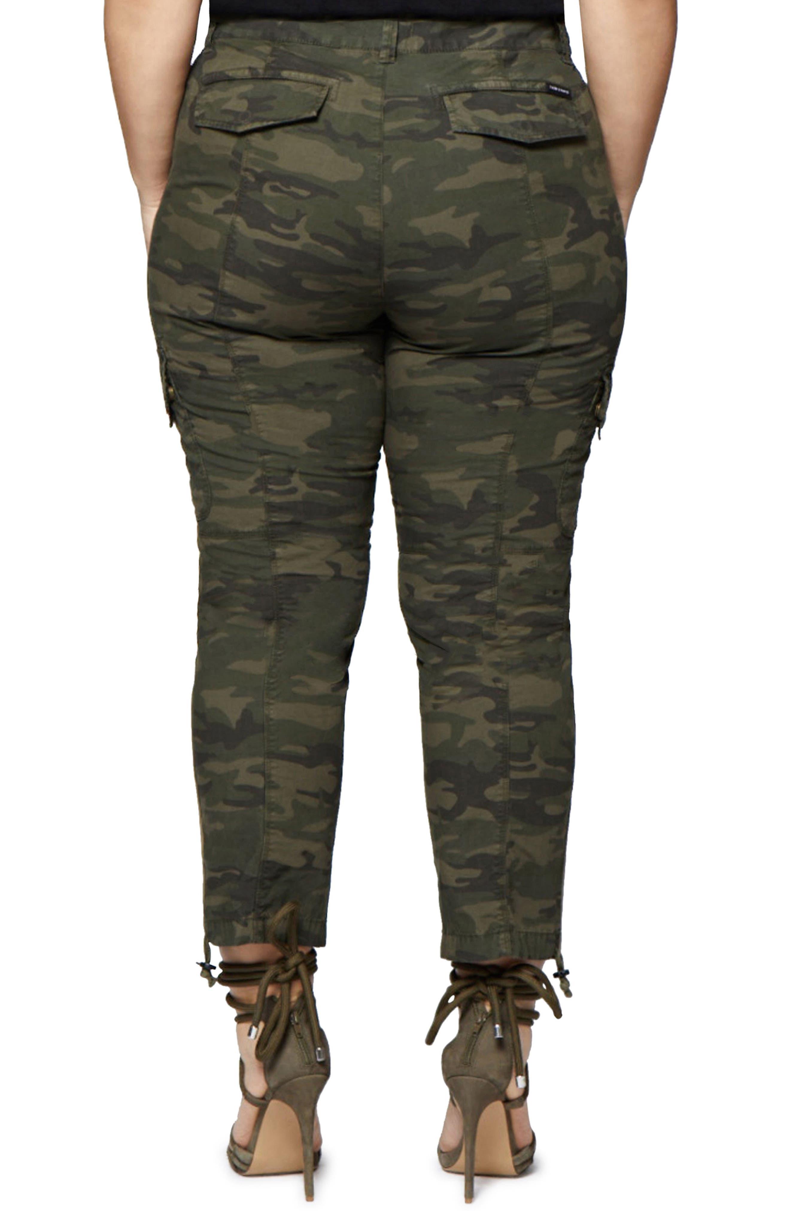 Terrain Camo Crop Cargo Pants,                             Alternate thumbnail 2, color,                             Mother Nature Camo