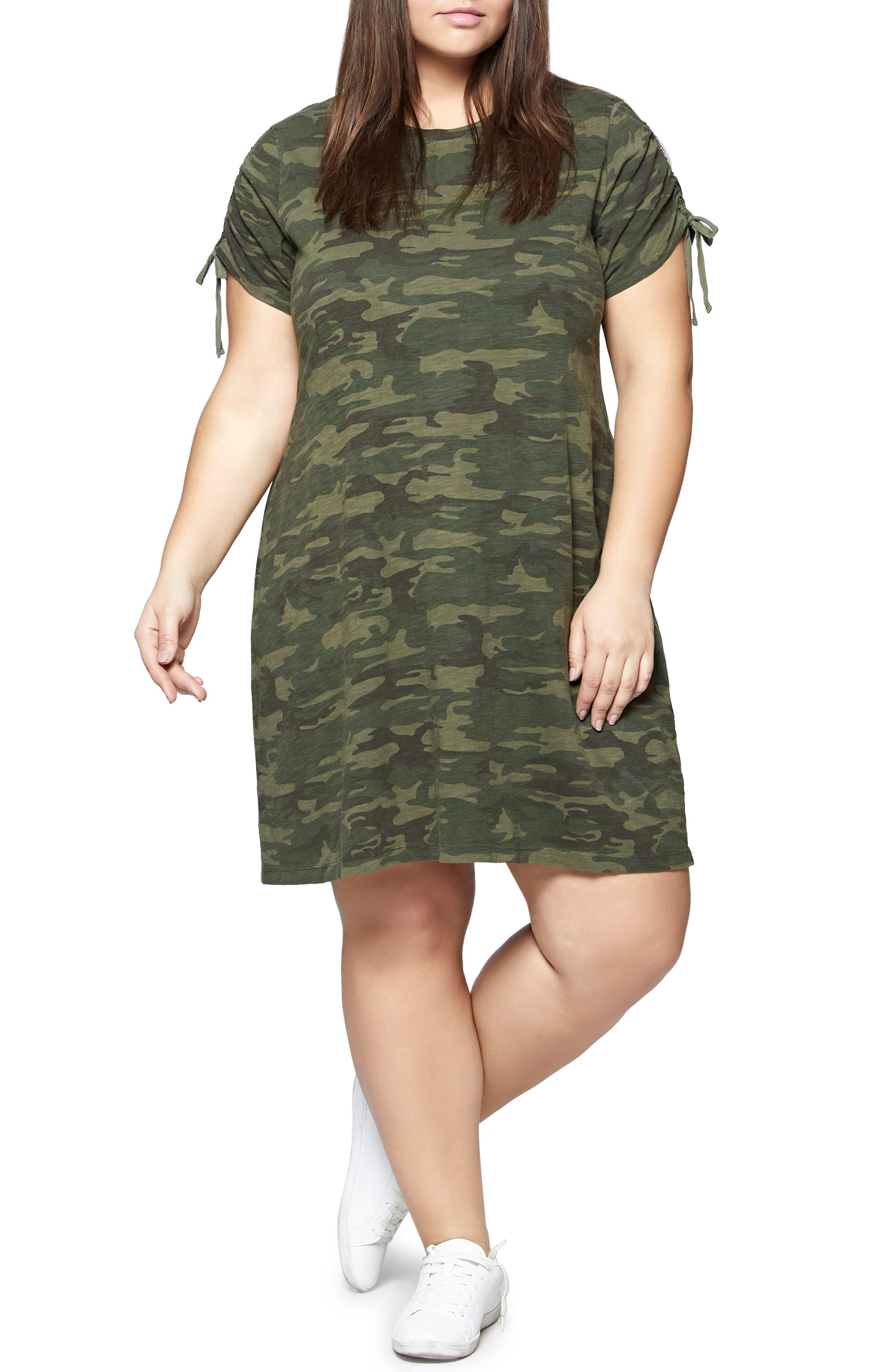 Ojai Camo T-Shirt Dress,                             Main thumbnail 1, color,                             Mother Nature Camo