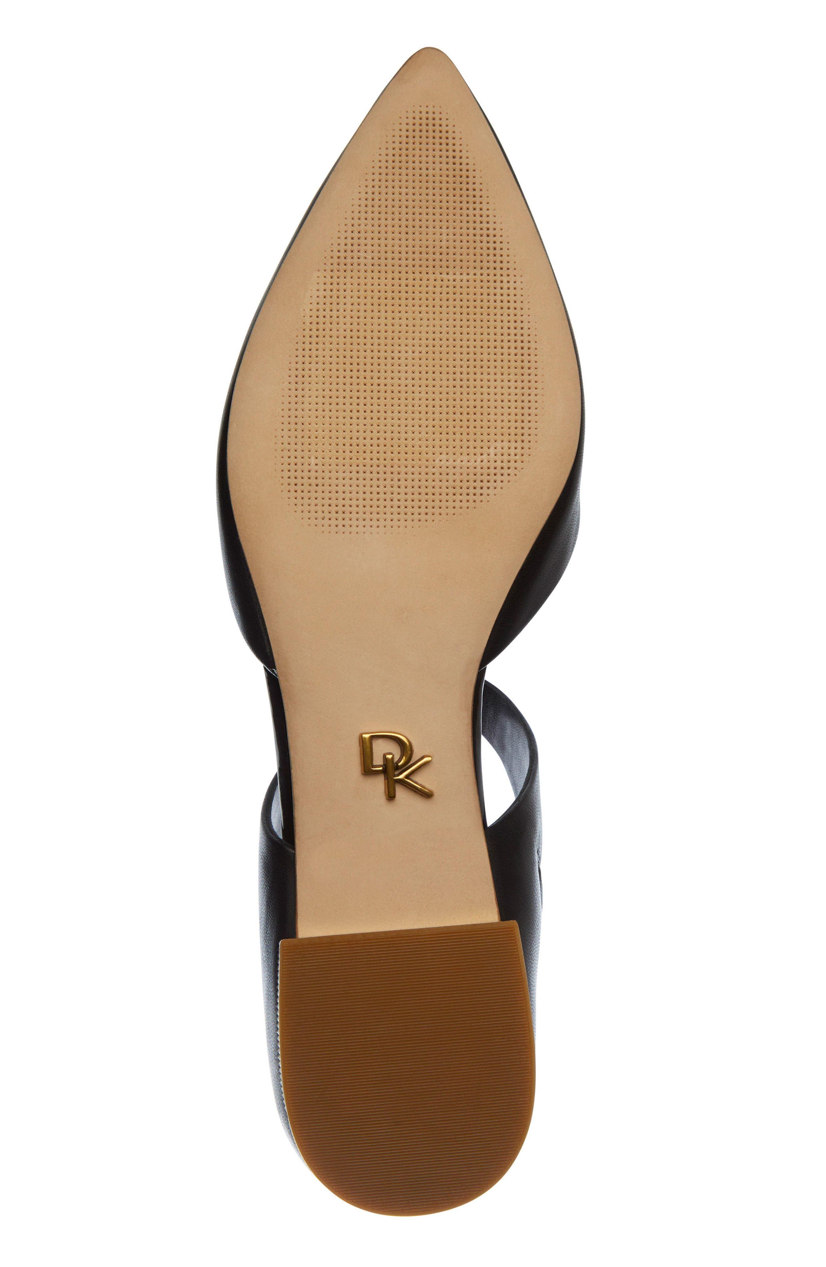 Donna Karan Paris Pointy Toe Mule,                             Alternate thumbnail 6, color,                             Black Leather