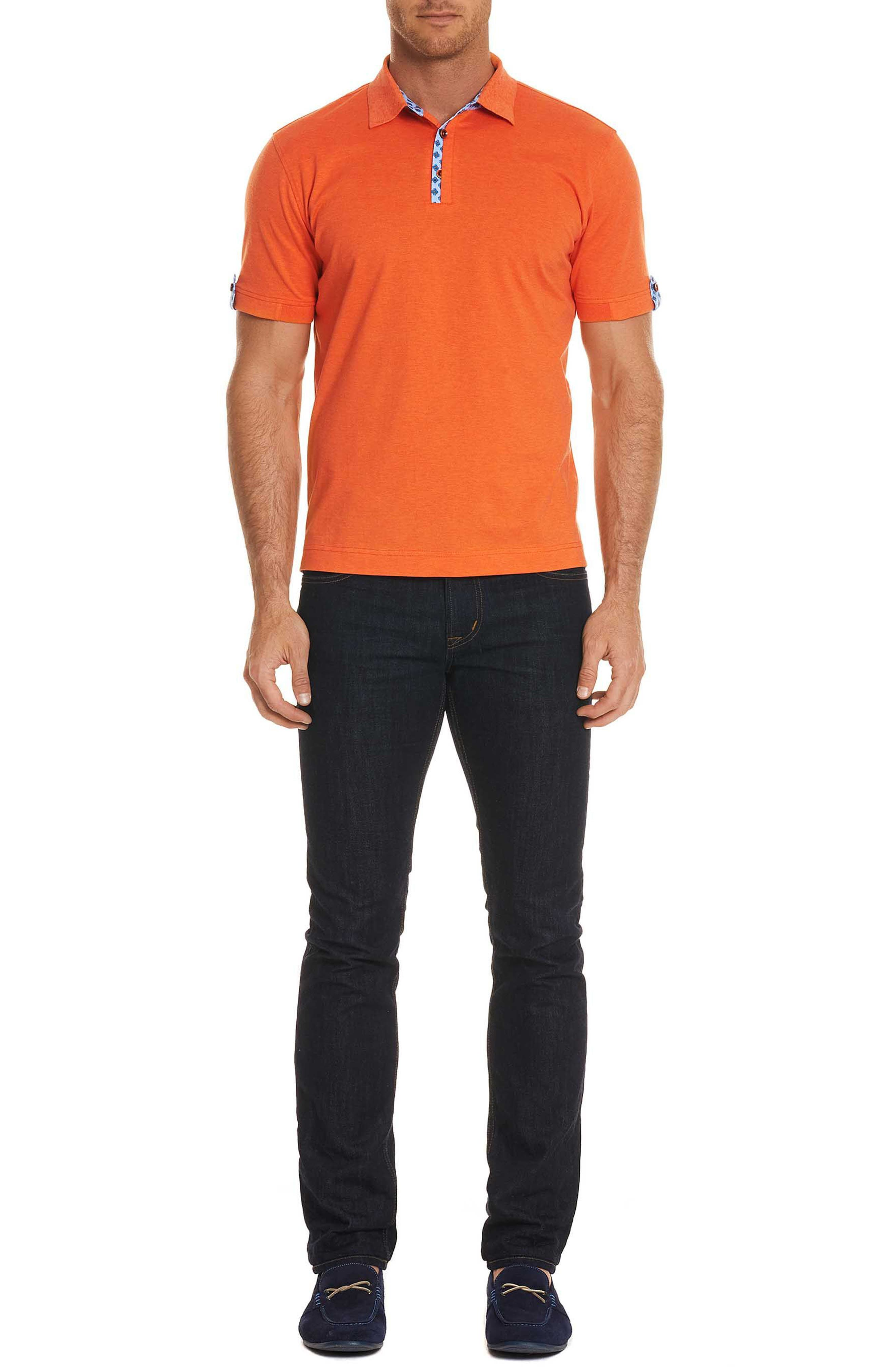 Diego Classic Fit Polo,                             Alternate thumbnail 6, color,                             Orange