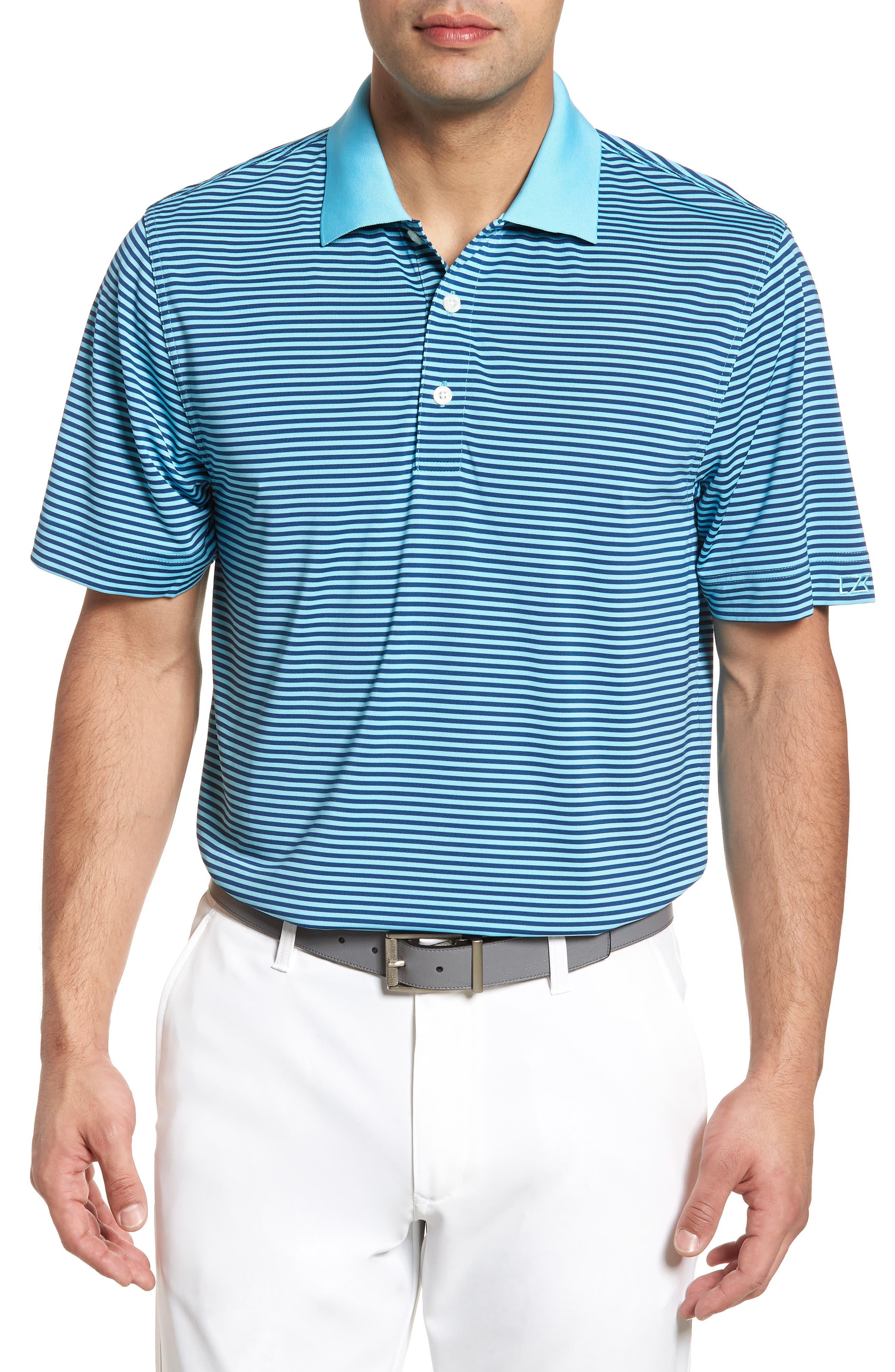 Alternate Image 1 Selected - Cutter & Buck Trevor Stripe DryTec Polo