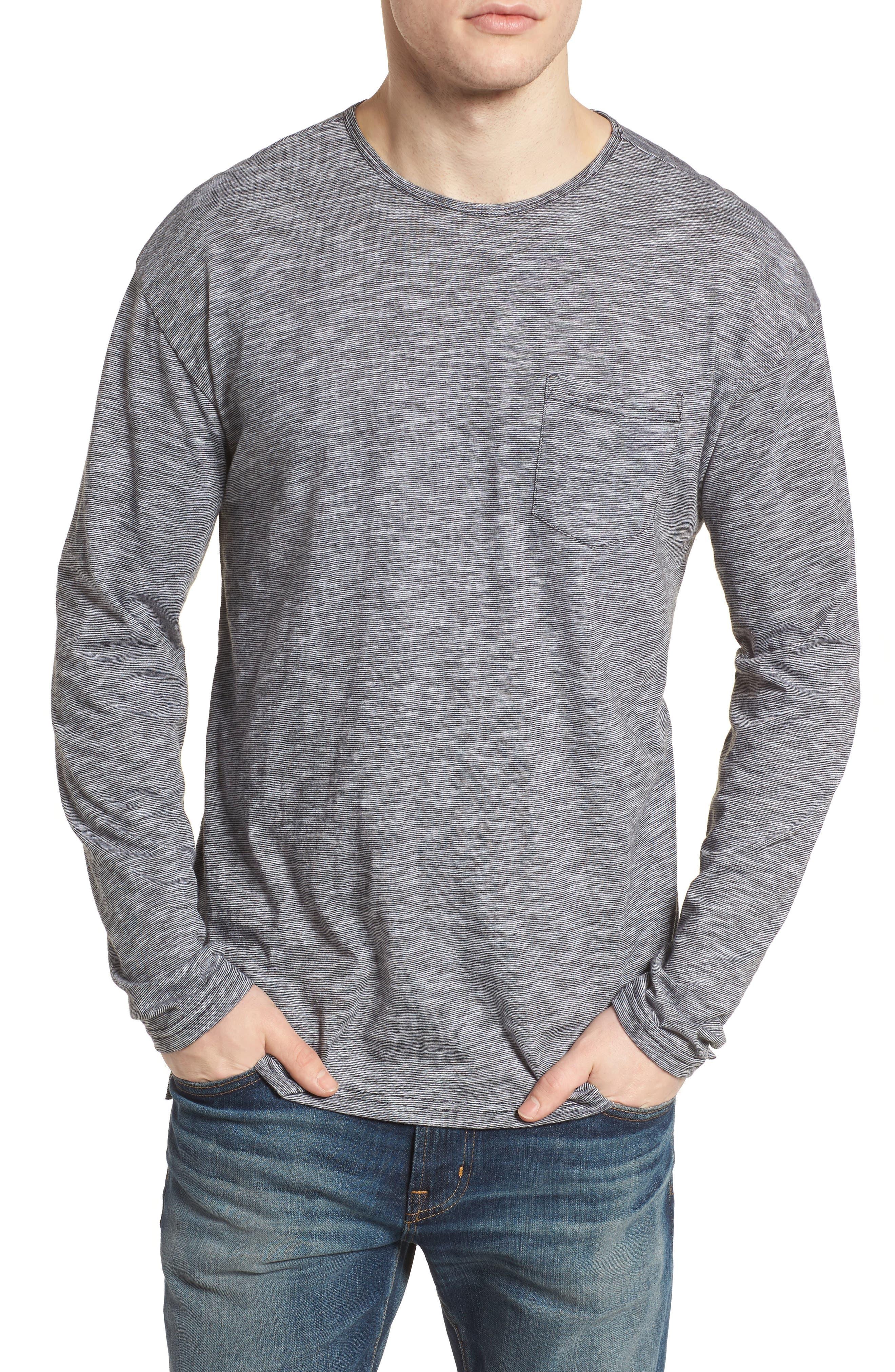 Steady Pocket T-Shirt,                         Main,                         color, Black