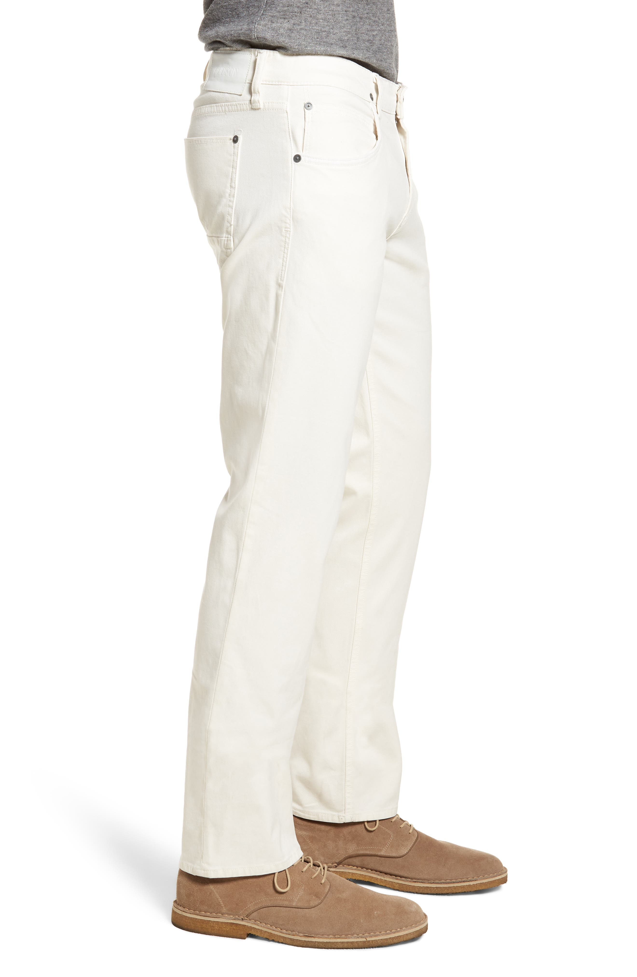 Blake Slim Fit Jeans,                             Alternate thumbnail 4, color,                             Off White