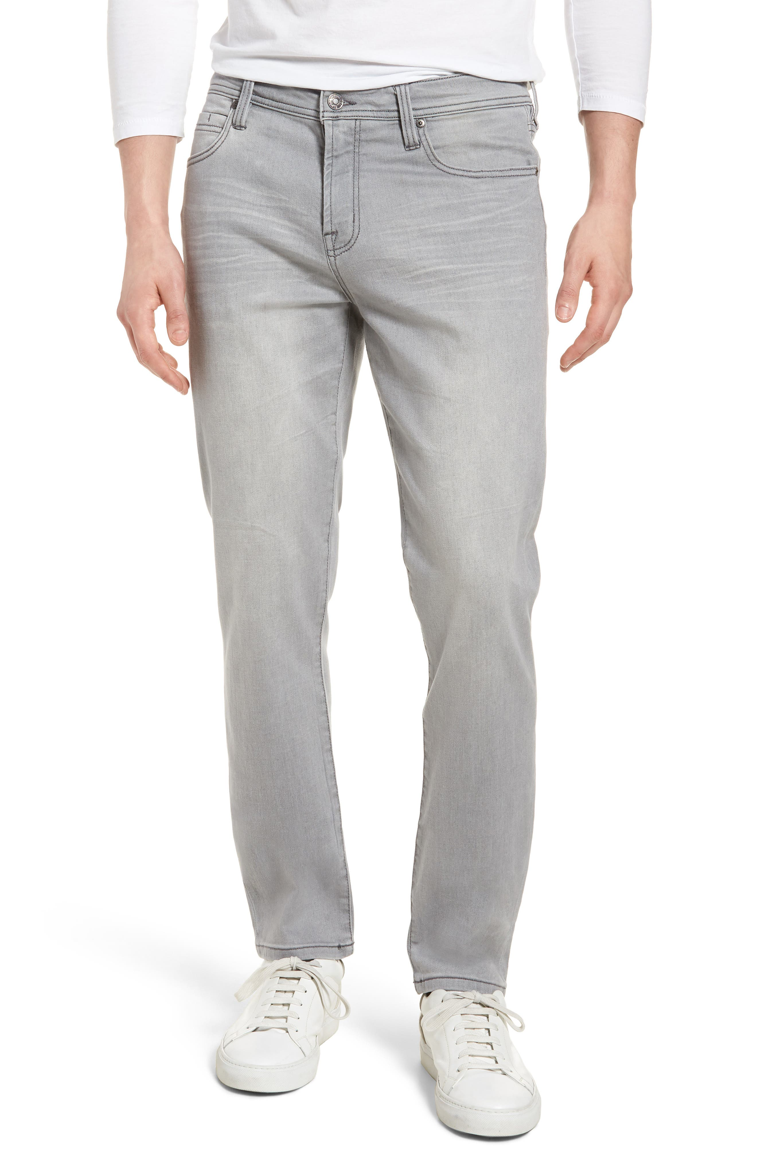 Main Image - Liverpool Jeans Co. Kingston Slim Straight Leg Jeans (Coal Mine Dark)