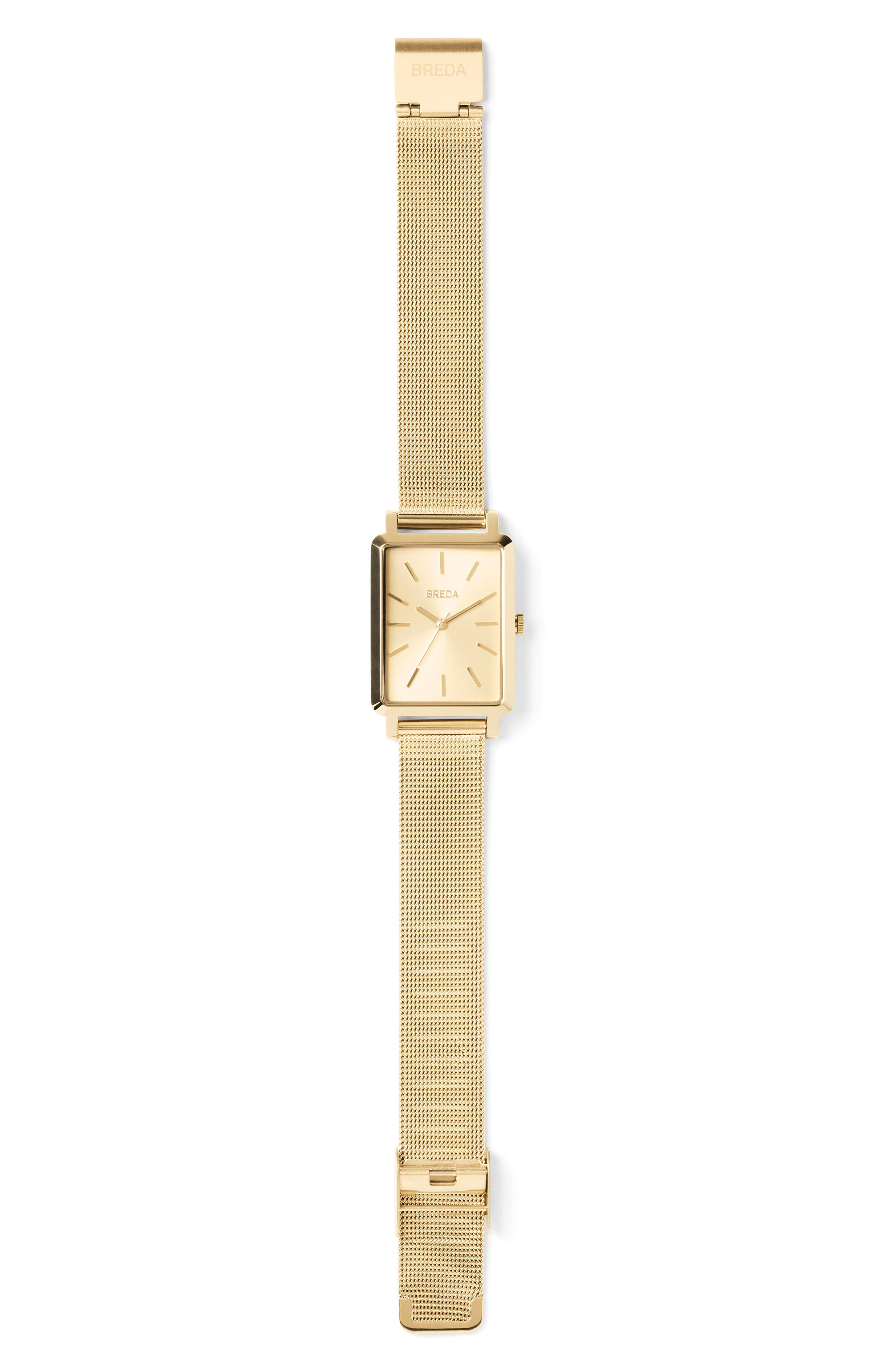 Baer Mesh Strap Watch, 26mm,                             Alternate thumbnail 2, color,                             Gold