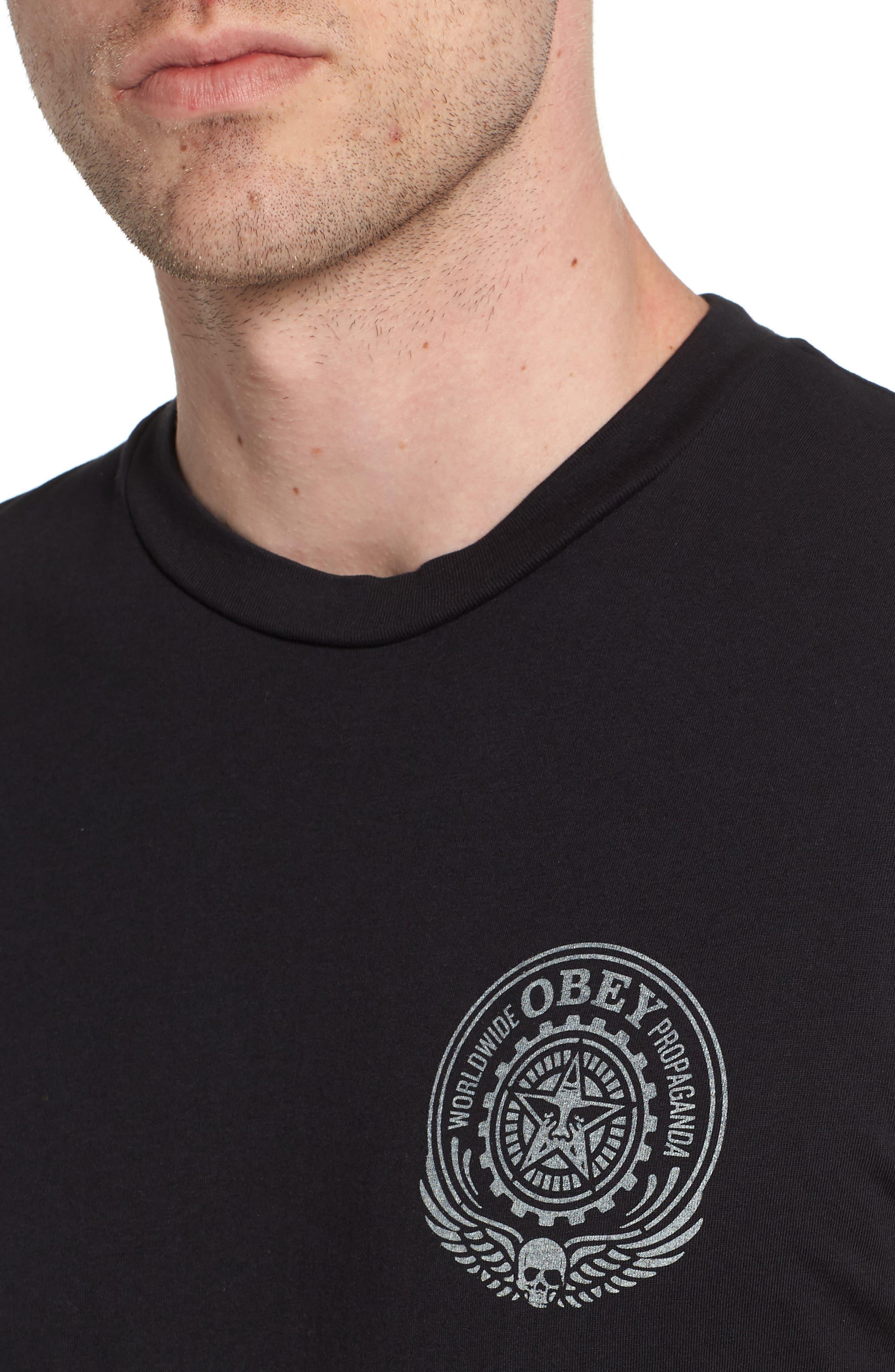 Alternate Image 4  - Obey Skulls & Wings T-Shirt