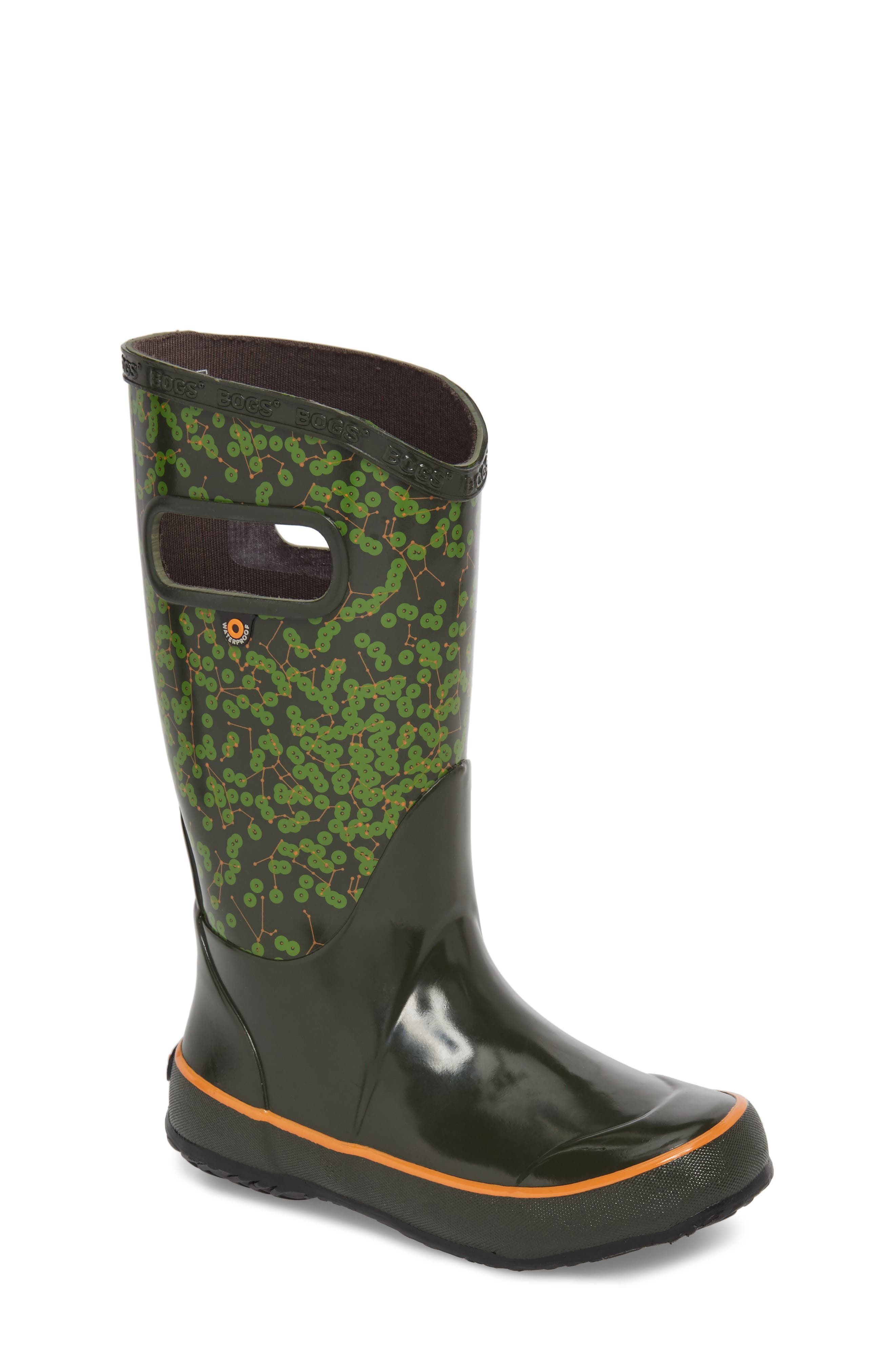 Bogs Constellations Waterproof Rubber Rain Boot (Walker, Toddler & Little Kid)