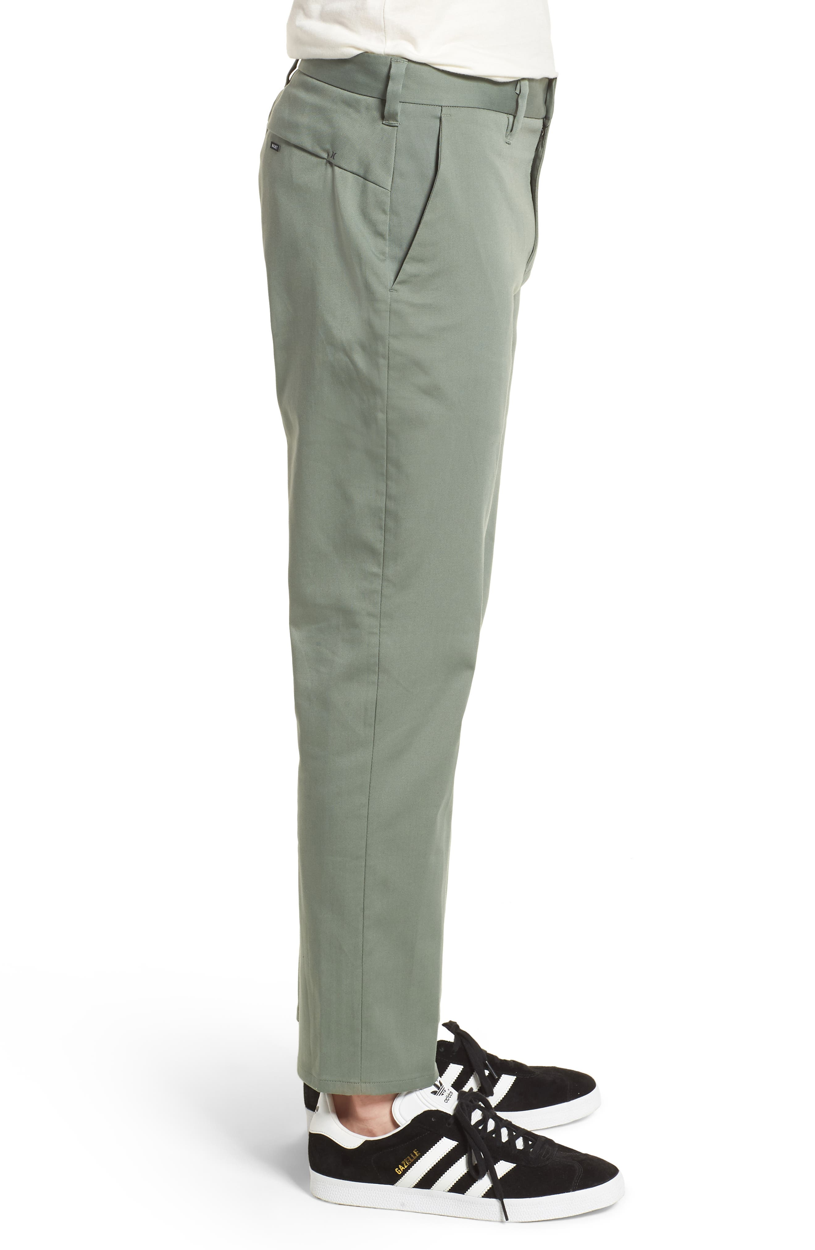 Dry Transistor Straight Leg Pants,                             Alternate thumbnail 3, color,                             Clay Green