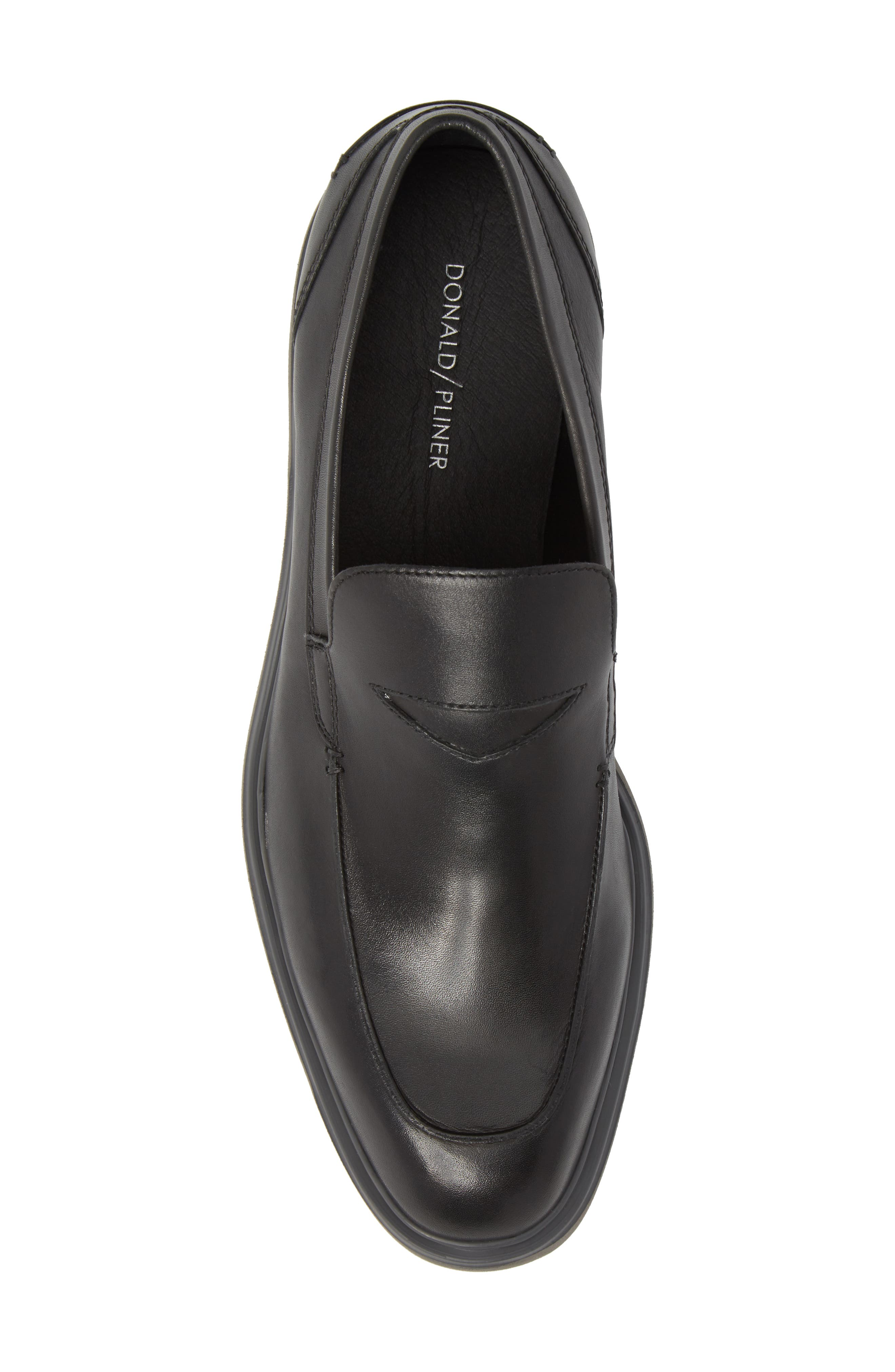 Edwyn Deconstructed Penny Loafer,                             Alternate thumbnail 5, color,                             Black Leather