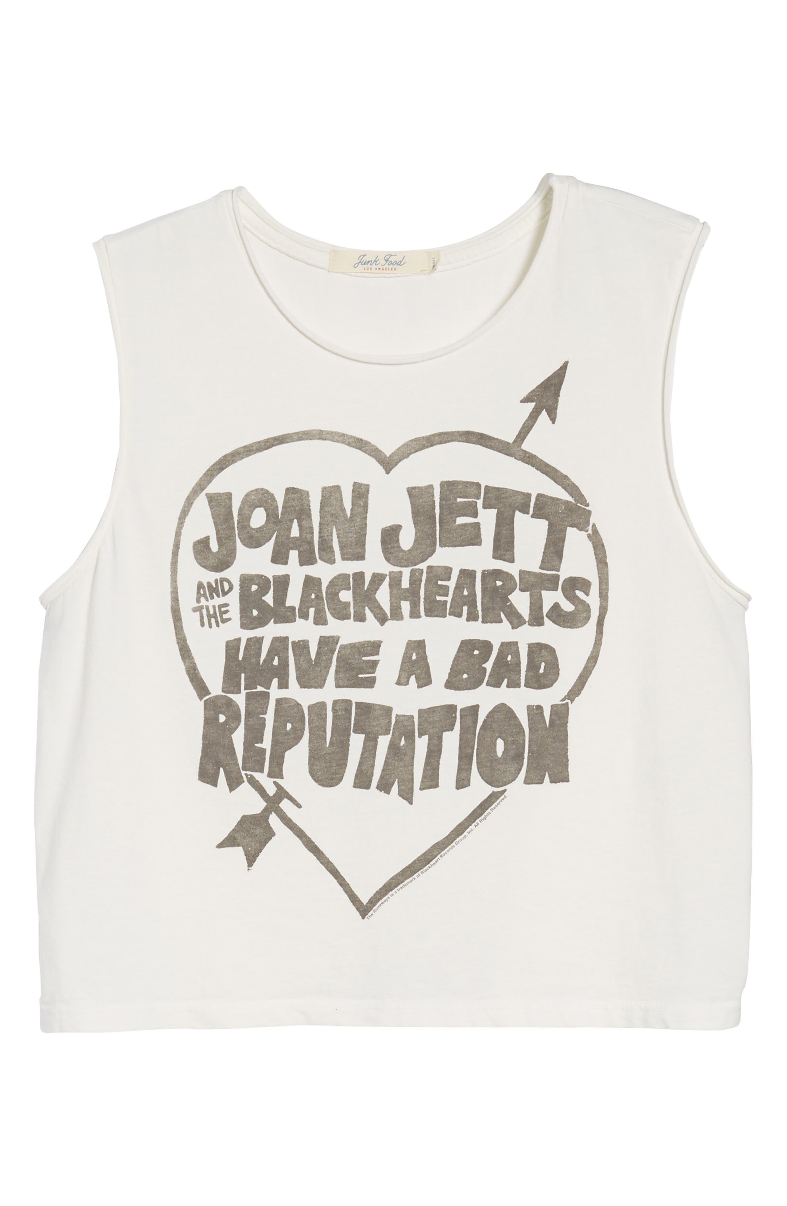 Joan Jett Muscle Tee,                             Alternate thumbnail 6, color,                             Vintage White