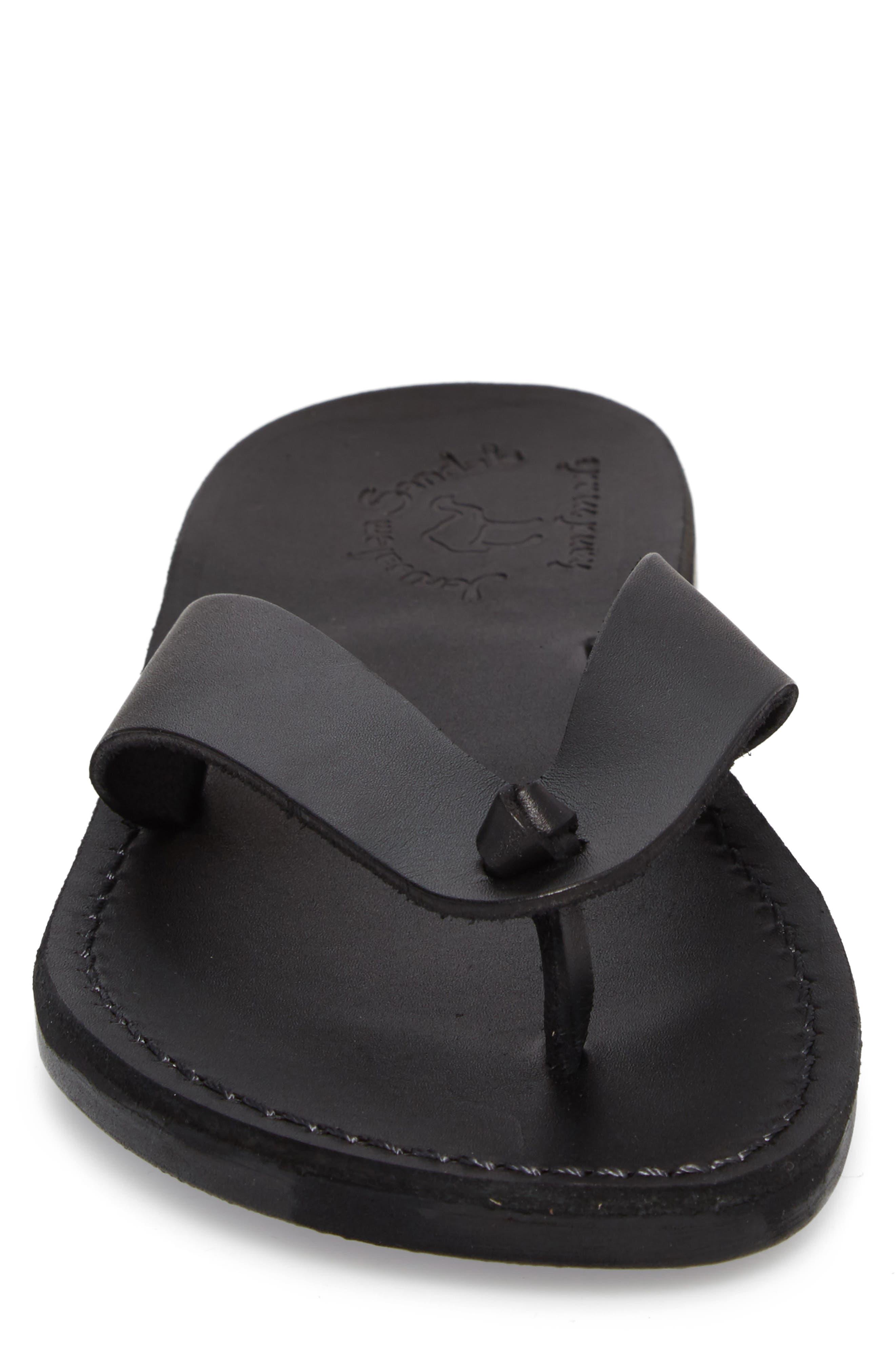 Solomon Flip Flop,                             Alternate thumbnail 4, color,                             Black Leather