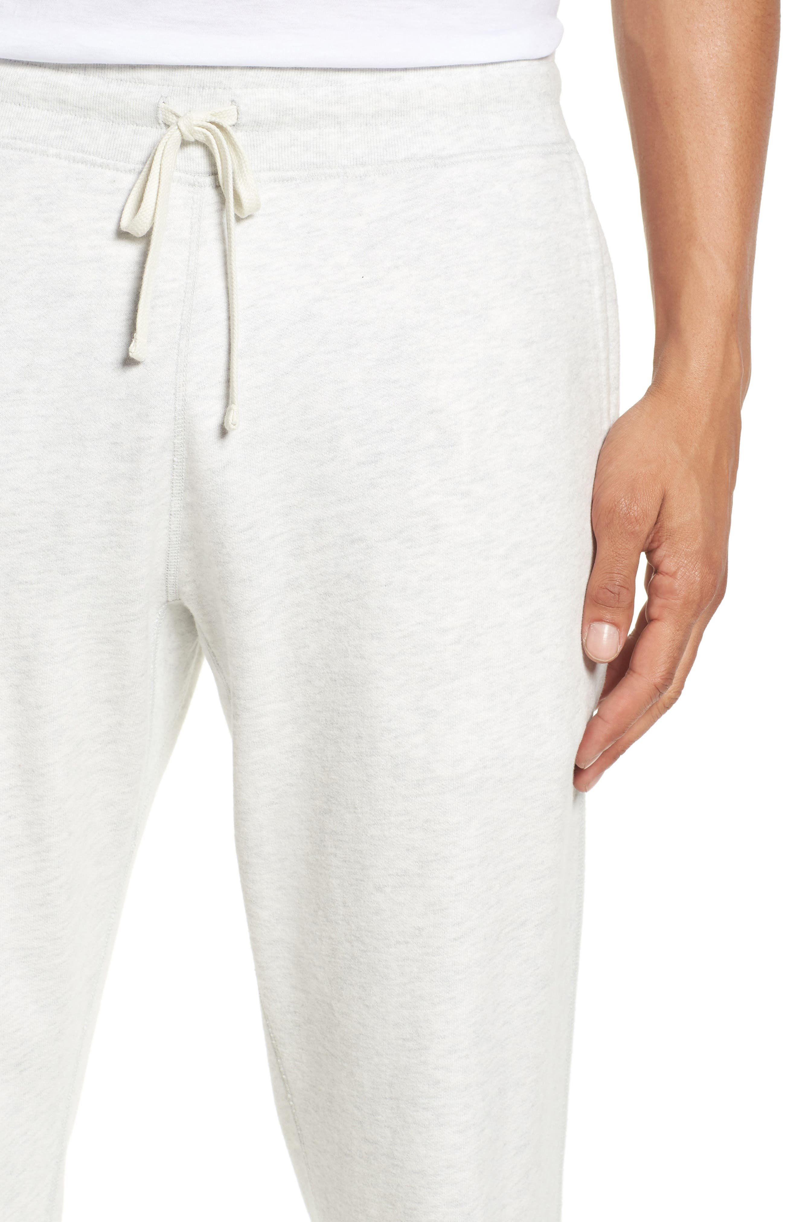 Slim Fit Sweatpants,                             Alternate thumbnail 4, color,                             Heather Ash